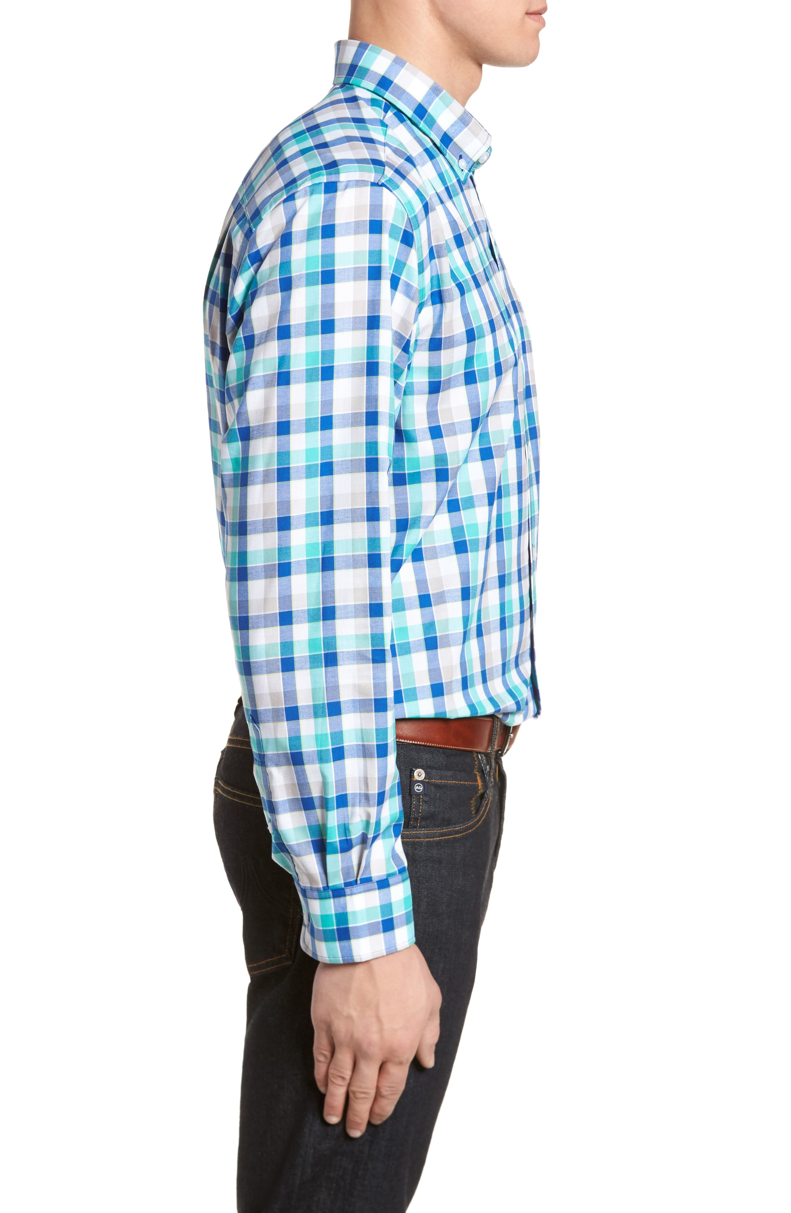 Dylan Classic Fit Easy Care Check Sport Shirt,                             Alternate thumbnail 7, color,
