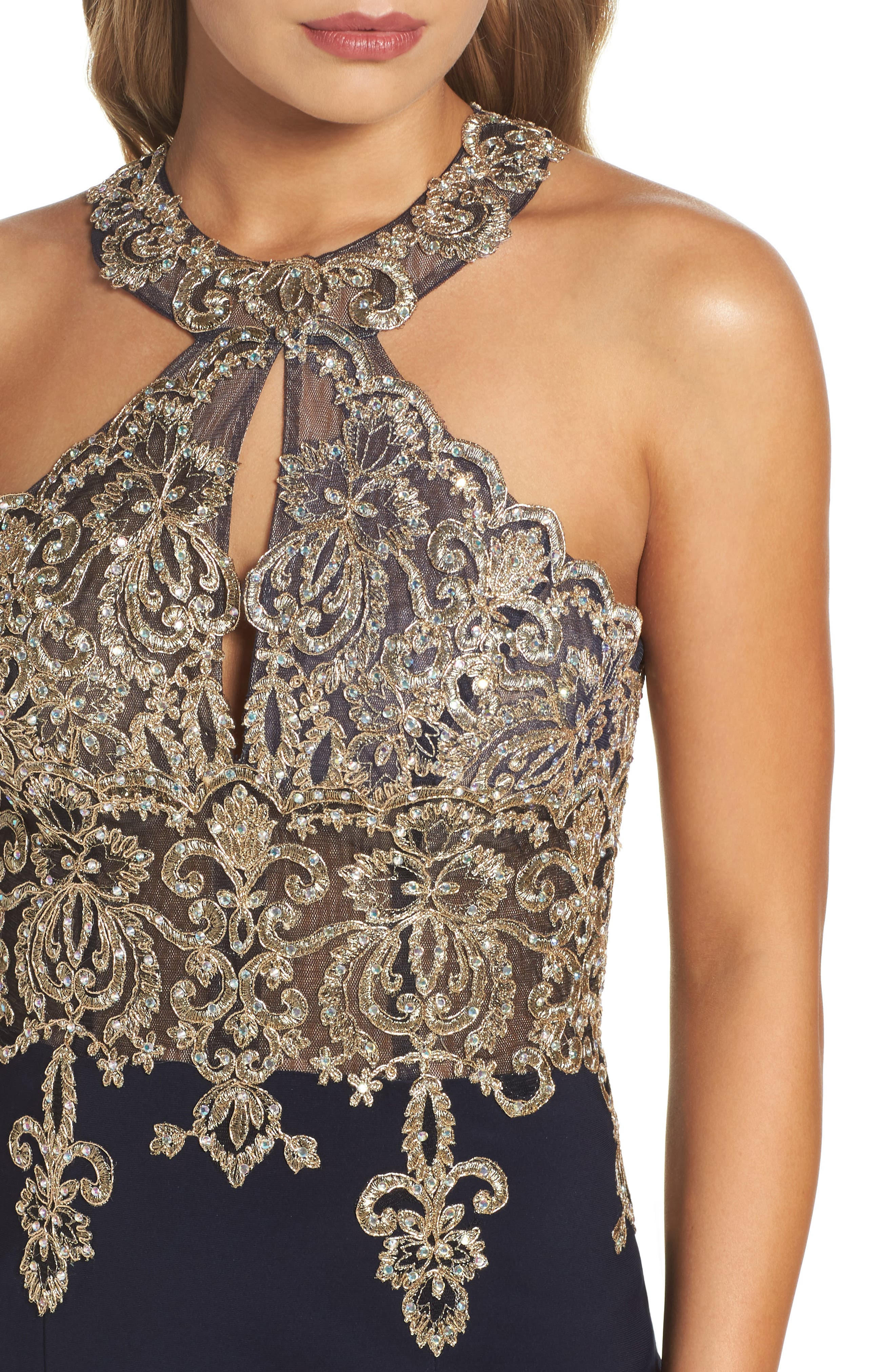 Embroidered Sheath Dress,                             Alternate thumbnail 4, color,