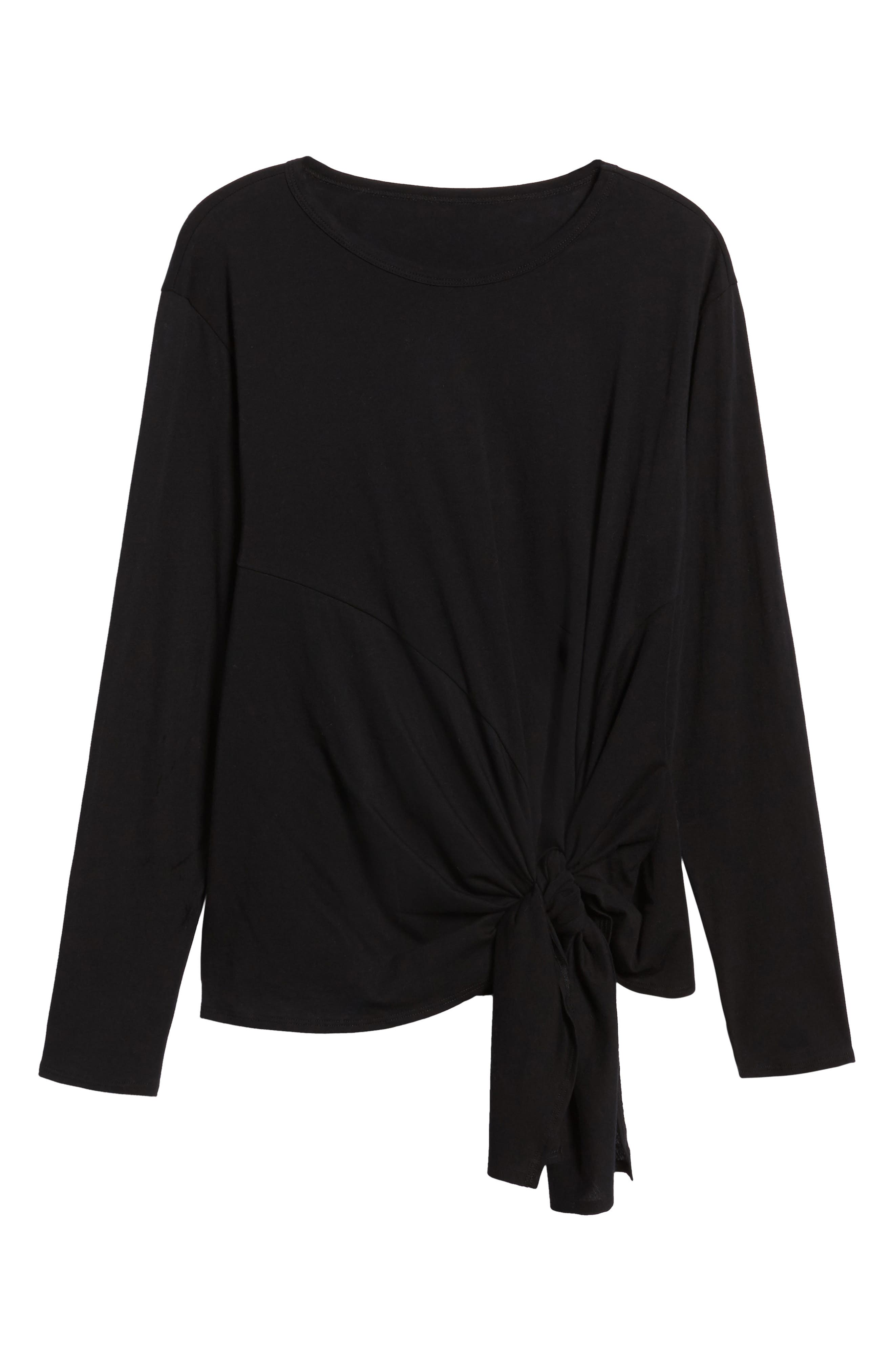 Long Sleeve Side Tie Tee,                             Alternate thumbnail 31, color,