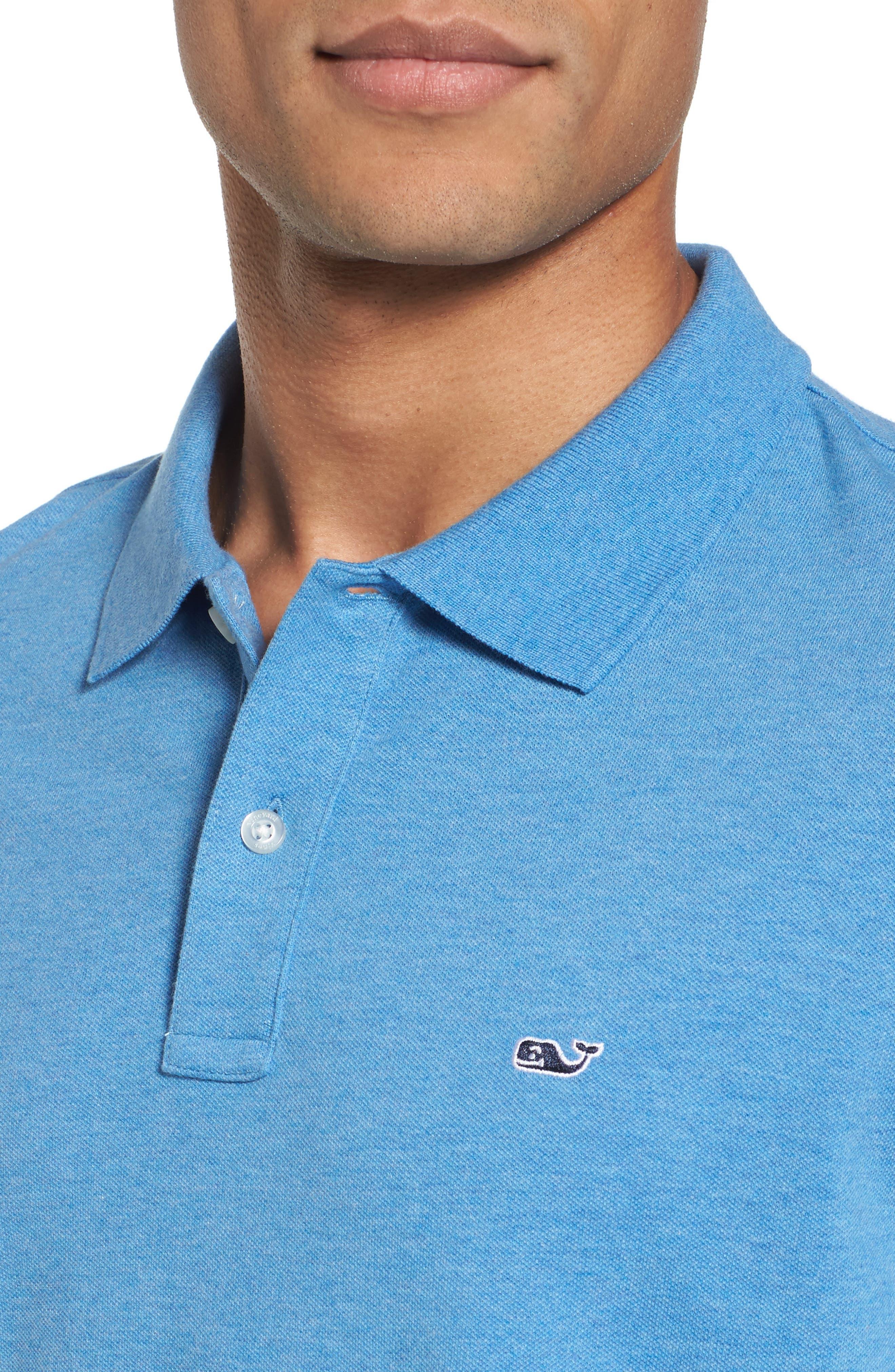 Regular Fit Piqué Polo,                             Alternate thumbnail 4, color,                             DOCKSIDE BLUE
