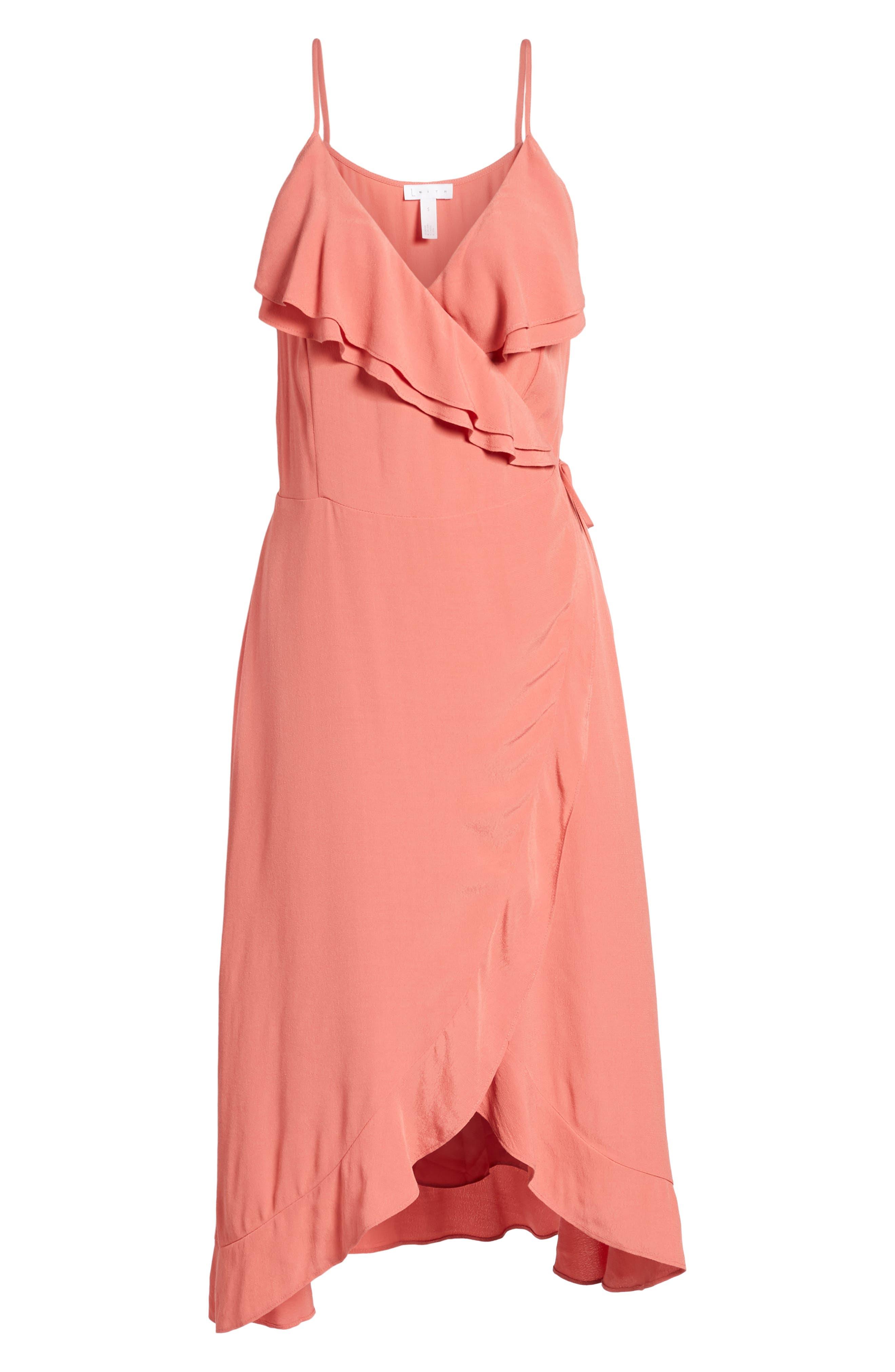 Flounce Wrap Midi Dress,                             Alternate thumbnail 23, color,