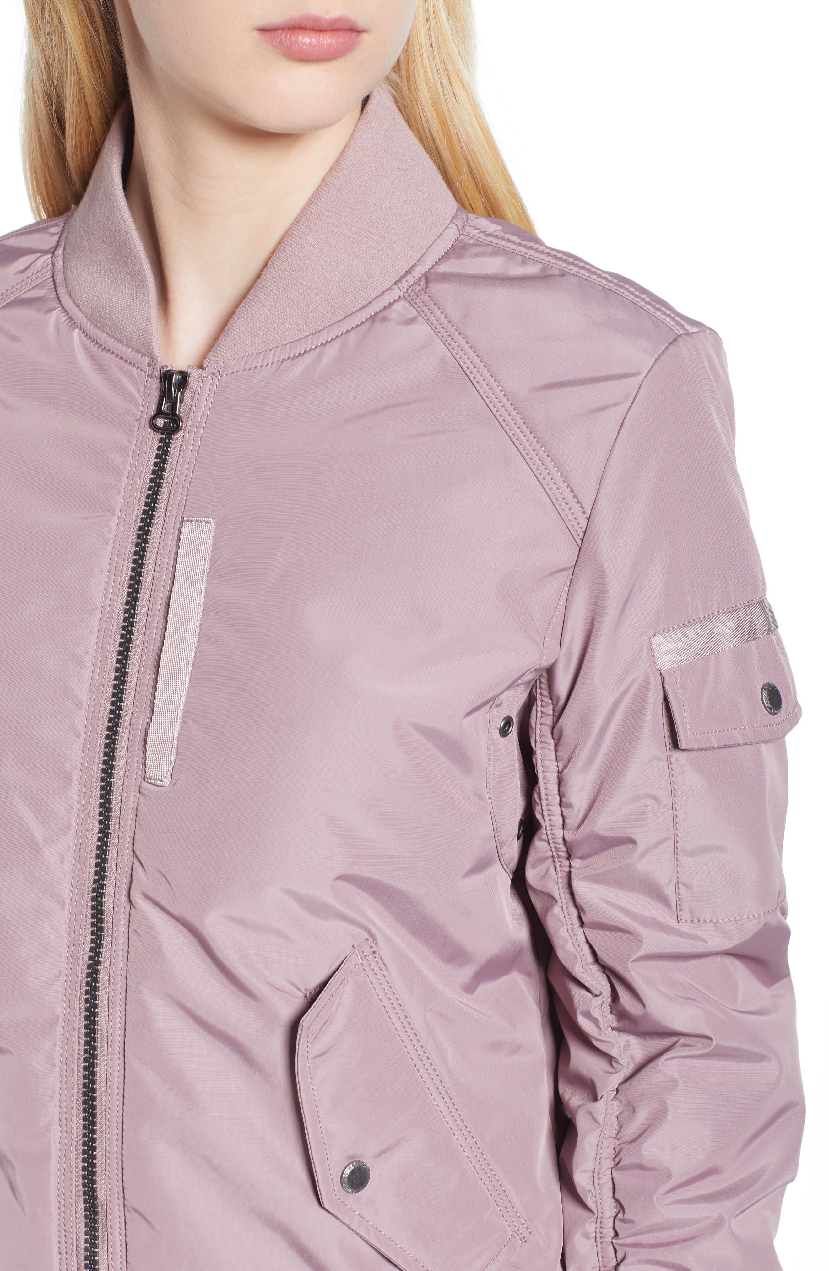 Foster Nylon Twill Bomber Jacket,                             Alternate thumbnail 13, color,