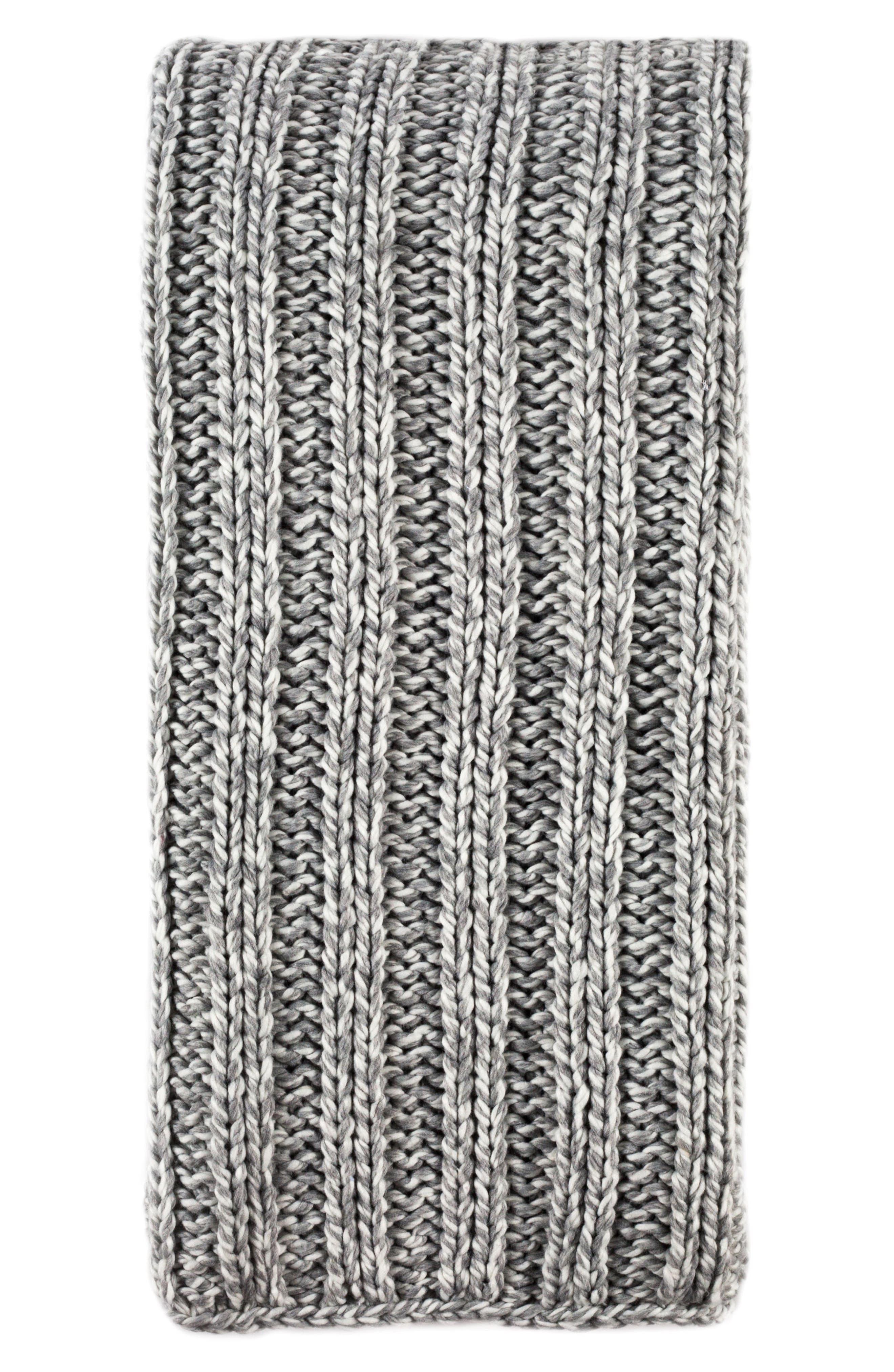 Sven Oversize Throw Blanket,                             Main thumbnail 1, color,                             GREY