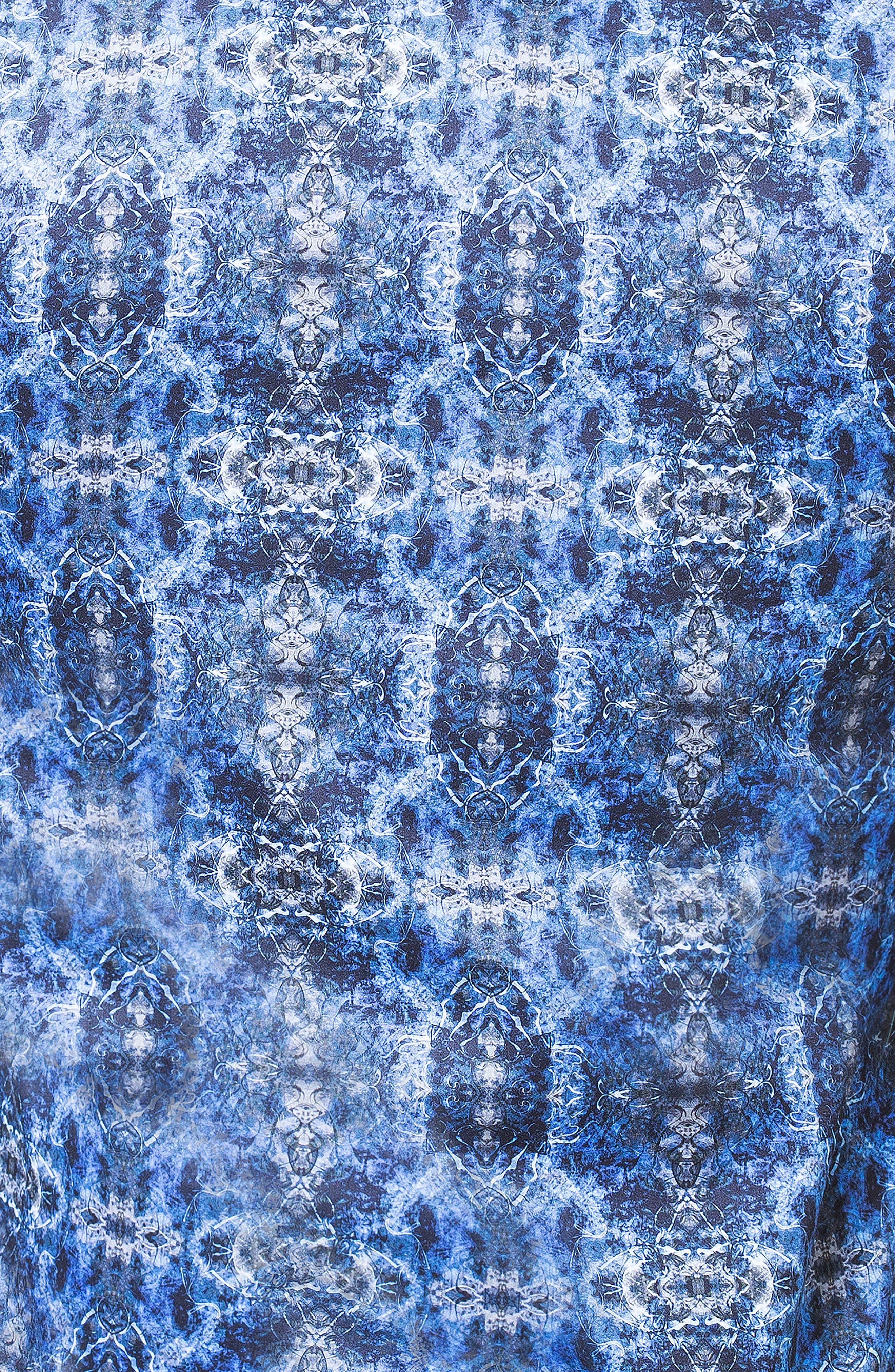 Fibonacci Desigual Regular Fit Print Sport Shirt,                             Alternate thumbnail 3, color,                             BLUE