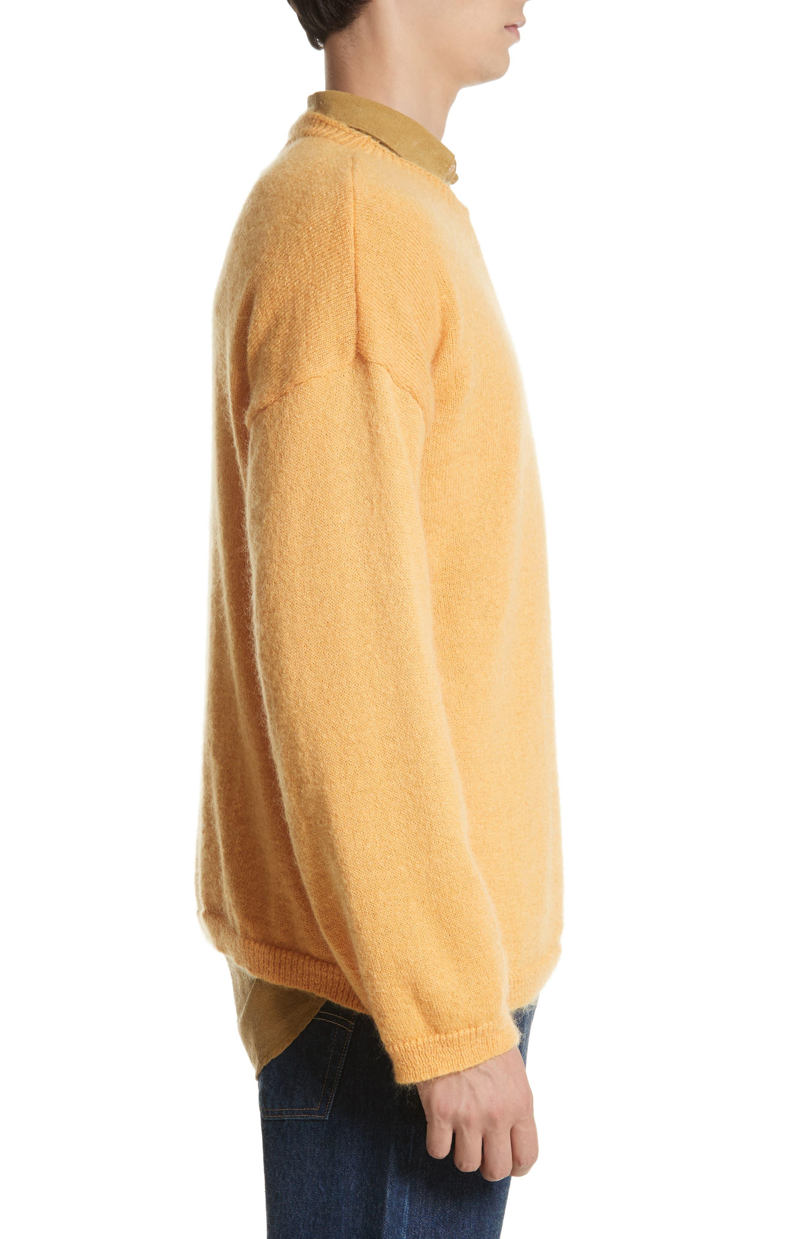Mohair Blend Crewneck Sweater,                             Alternate thumbnail 3, color,