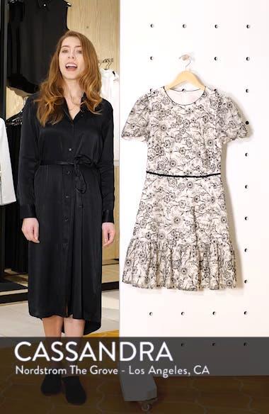 Viola Raffia Embroidery Pattern Dress, sales video thumbnail
