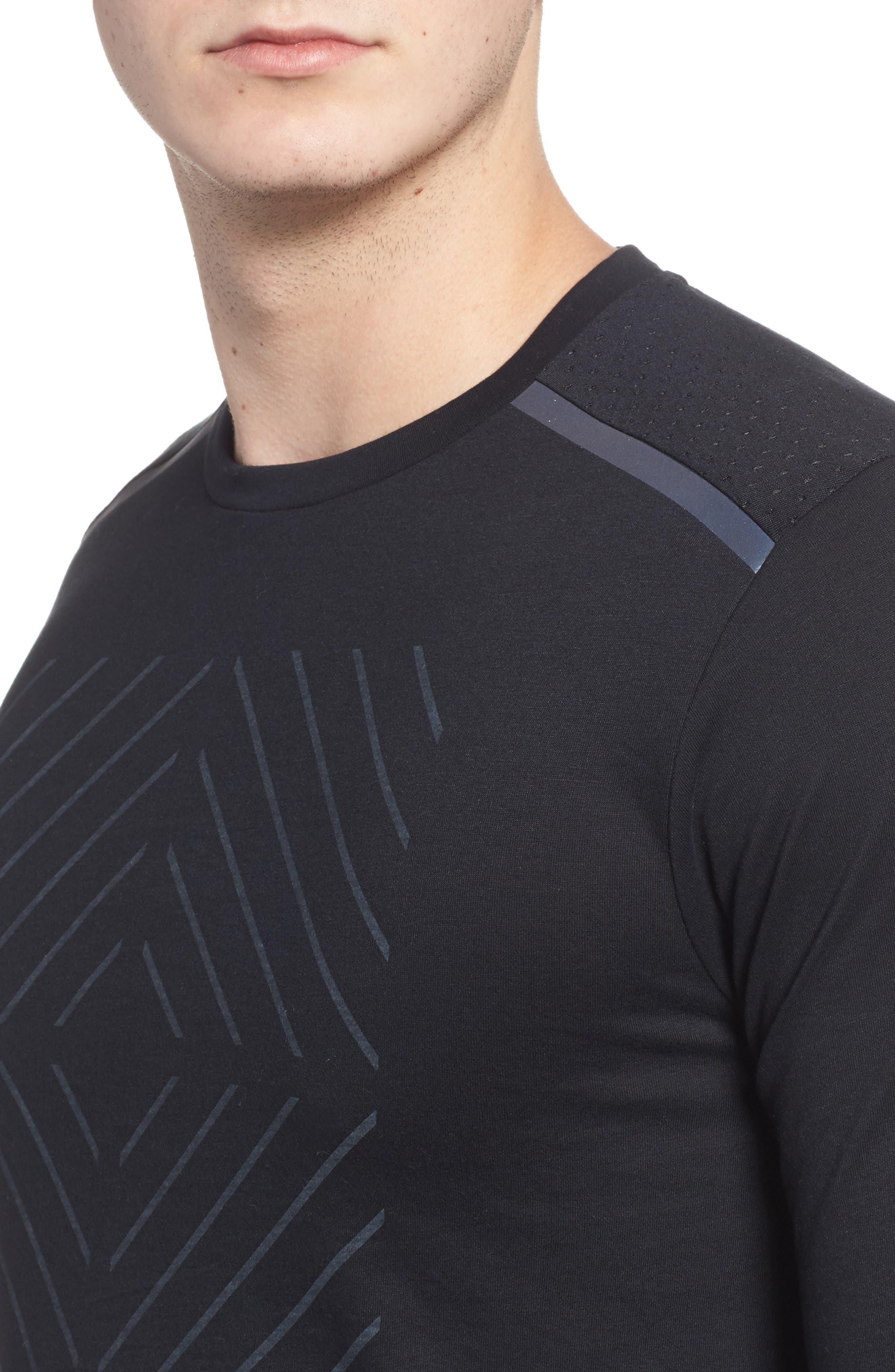 Tailwind Long Sleeve Running T-Shirt,                             Alternate thumbnail 4, color,                             010