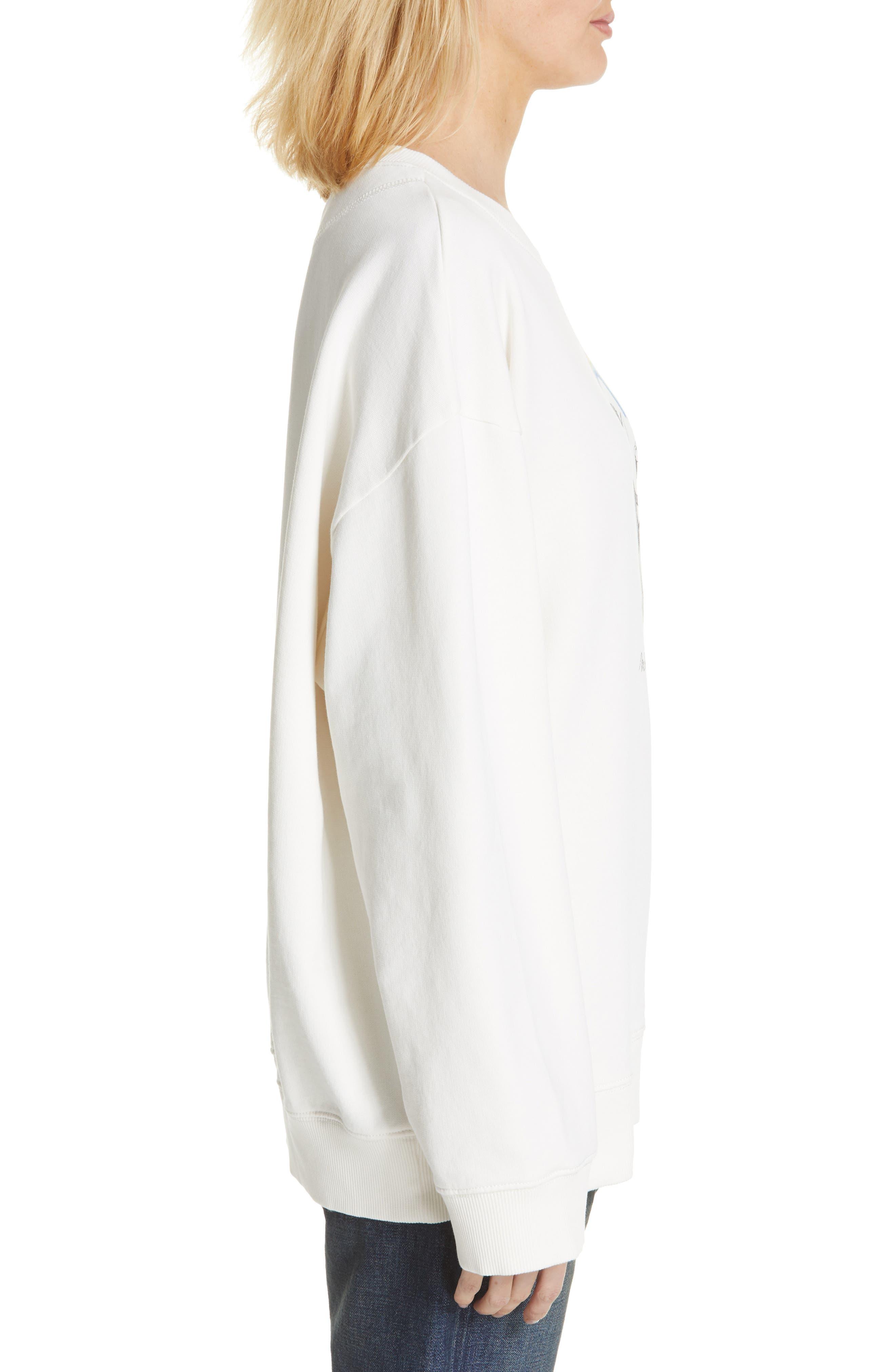 MM6 MAISON MARGIELA,                             Kidswear Mascot Graphic Sweatshirt,                             Alternate thumbnail 3, color,                             OFF WHITE