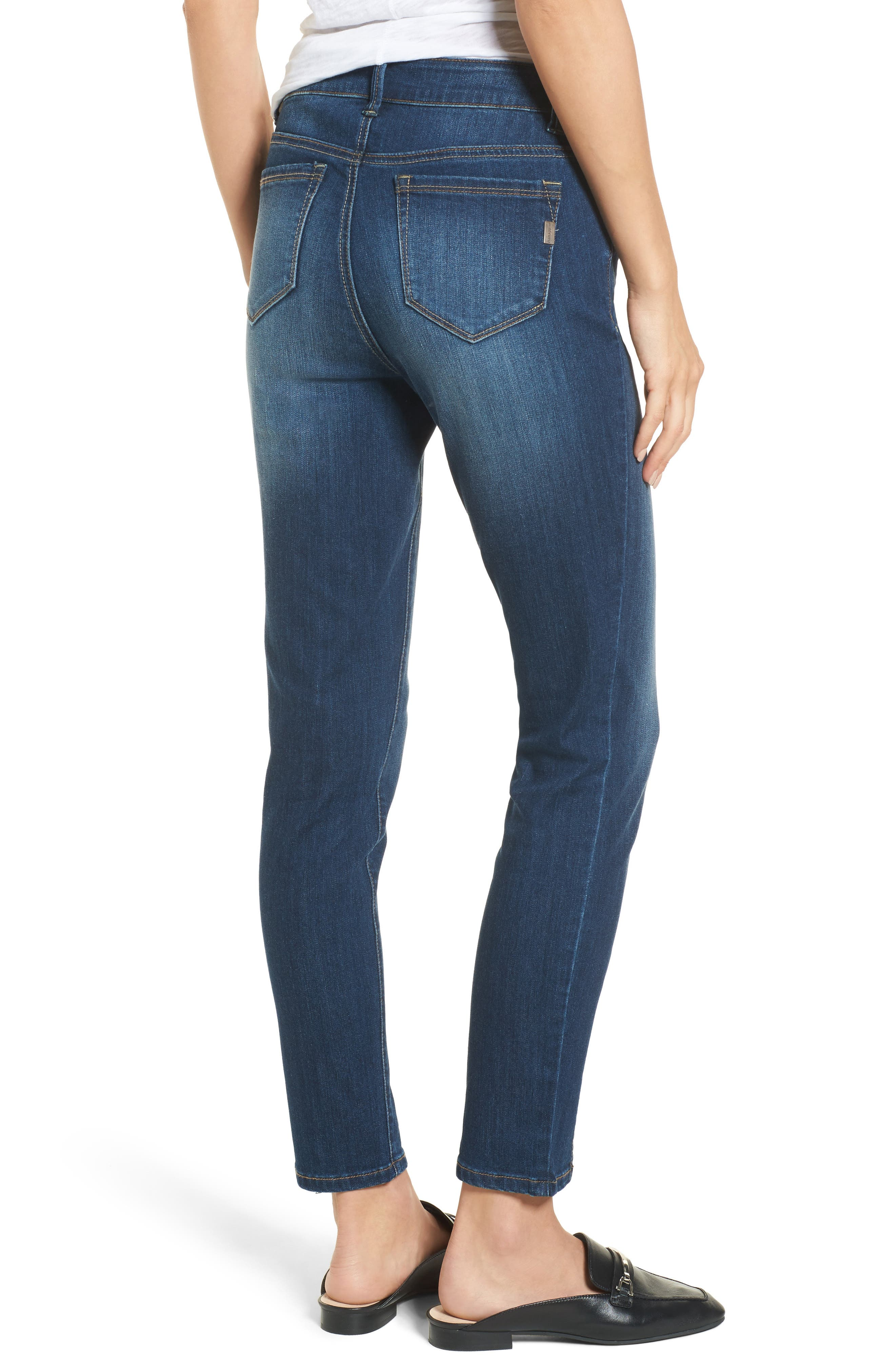 Front Seam Skinny Jeans,                             Alternate thumbnail 2, color,                             404