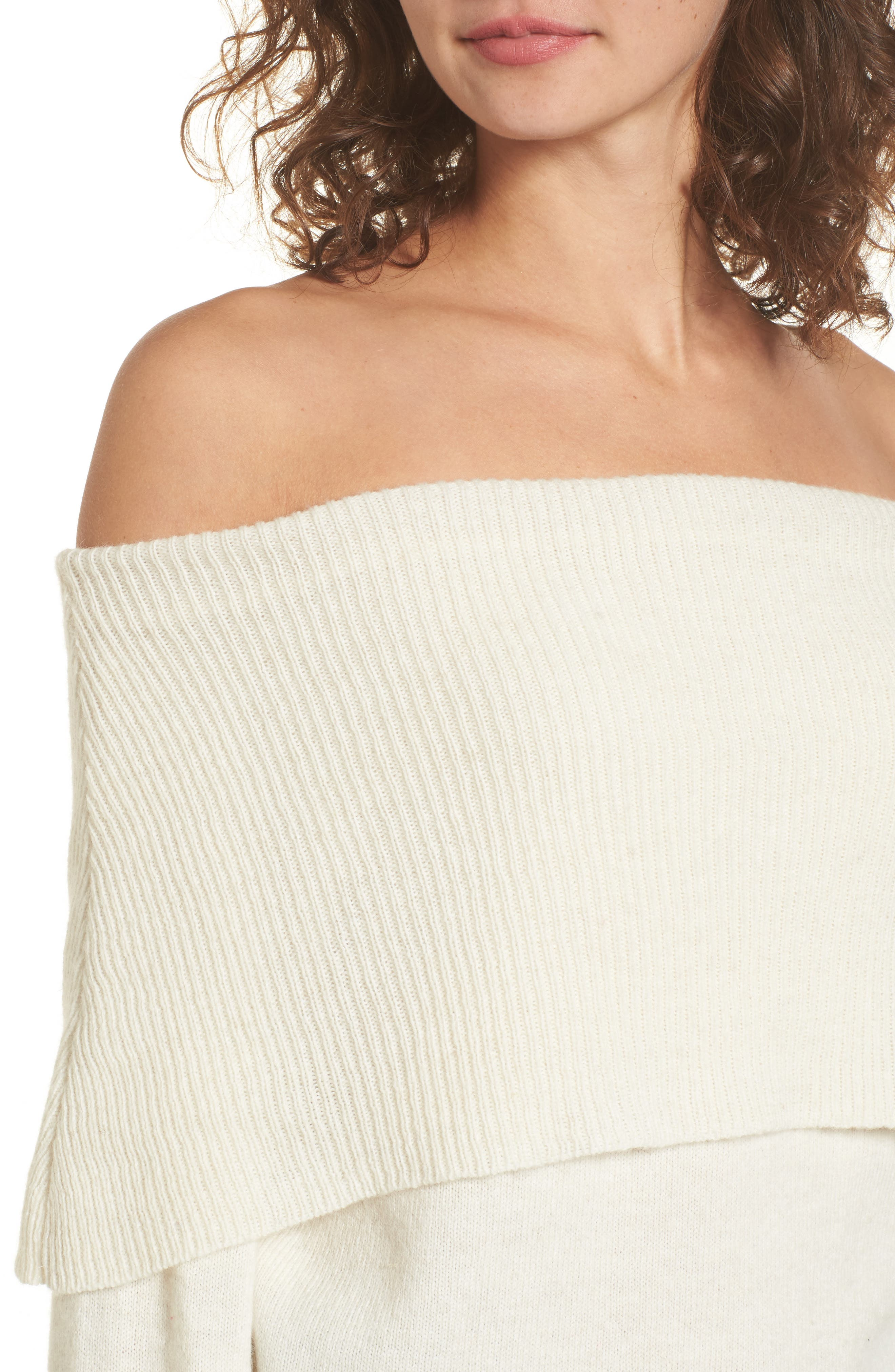 Off the Shoulder Sweater,                             Alternate thumbnail 4, color,                             900