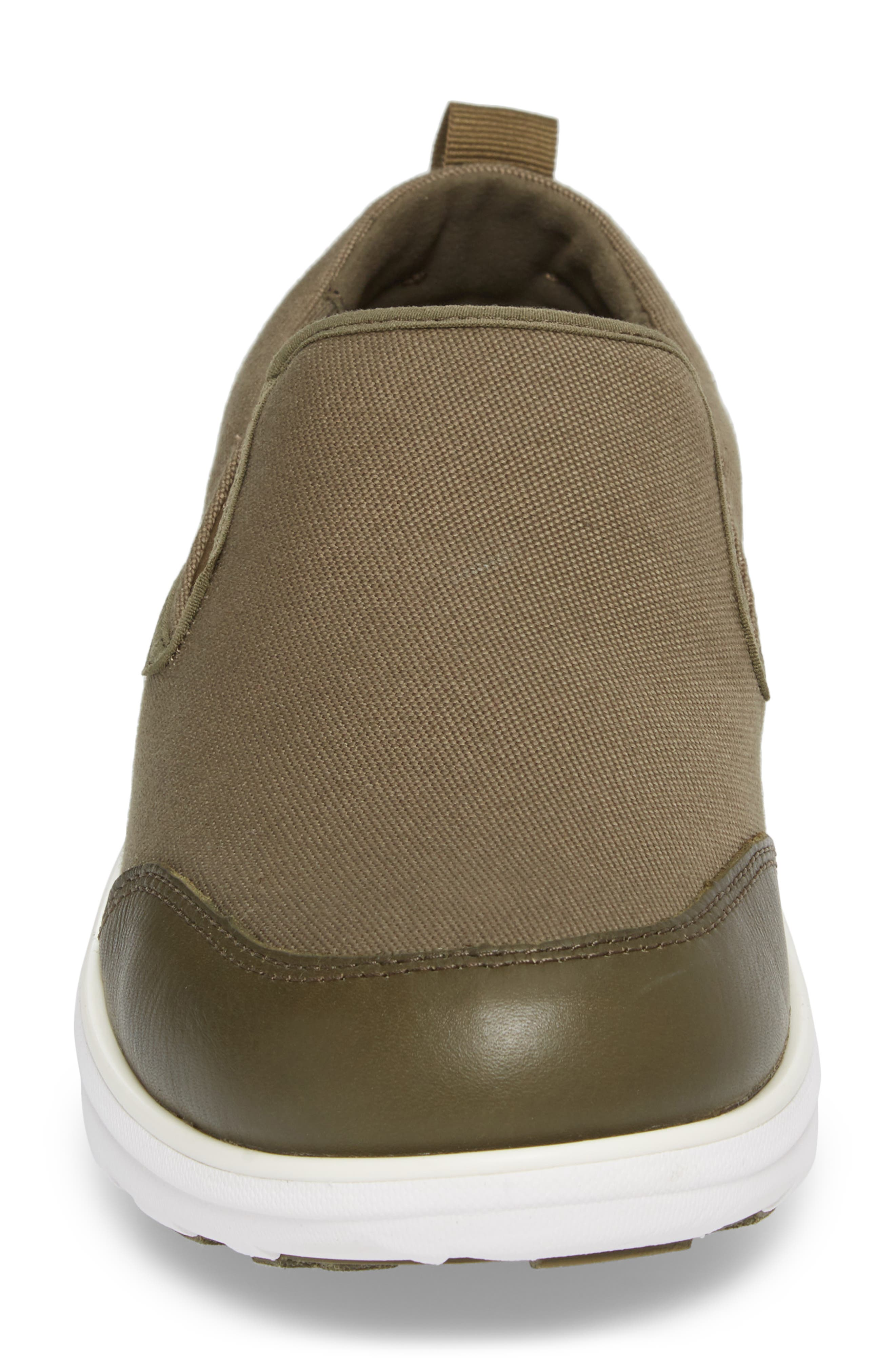 Loaff Skate In Slip-On Sneaker,                             Alternate thumbnail 4, color,                             CAMOUFLAGE GREEN