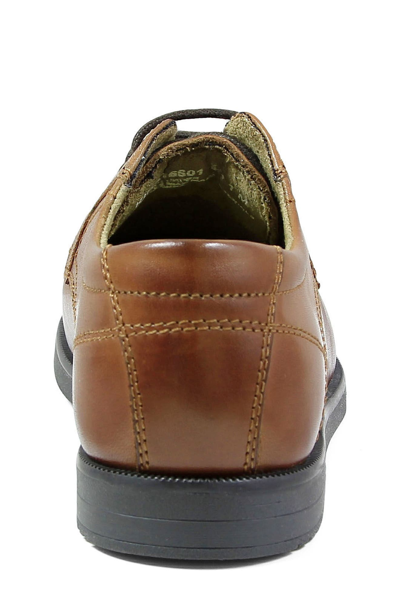 Midtown Plain Toe Derby,                             Alternate thumbnail 7, color,                             COGNAC LEATHER