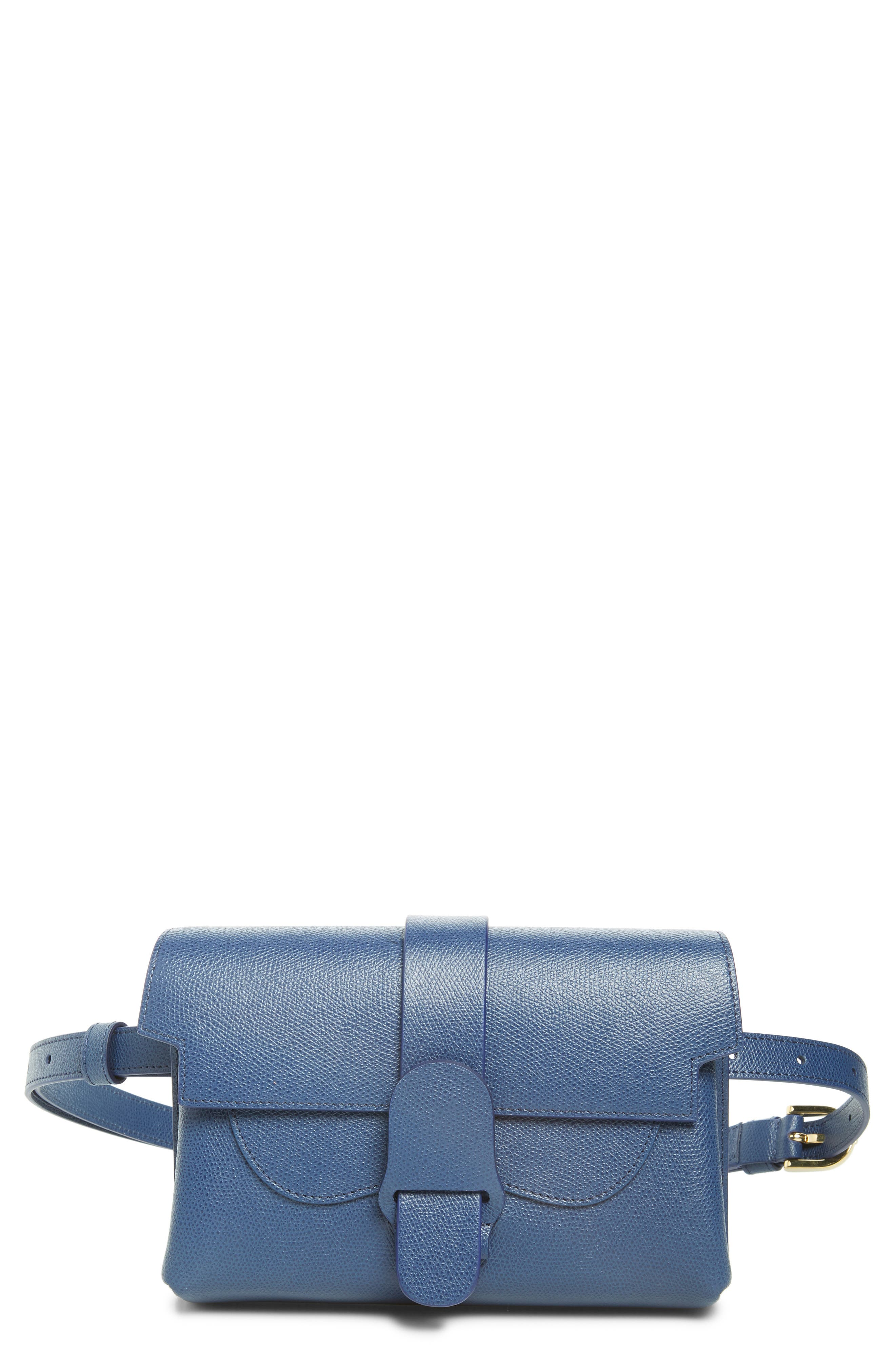 Aria Pebbled Leather Belt Bag,                             Main thumbnail 1, color,                             400