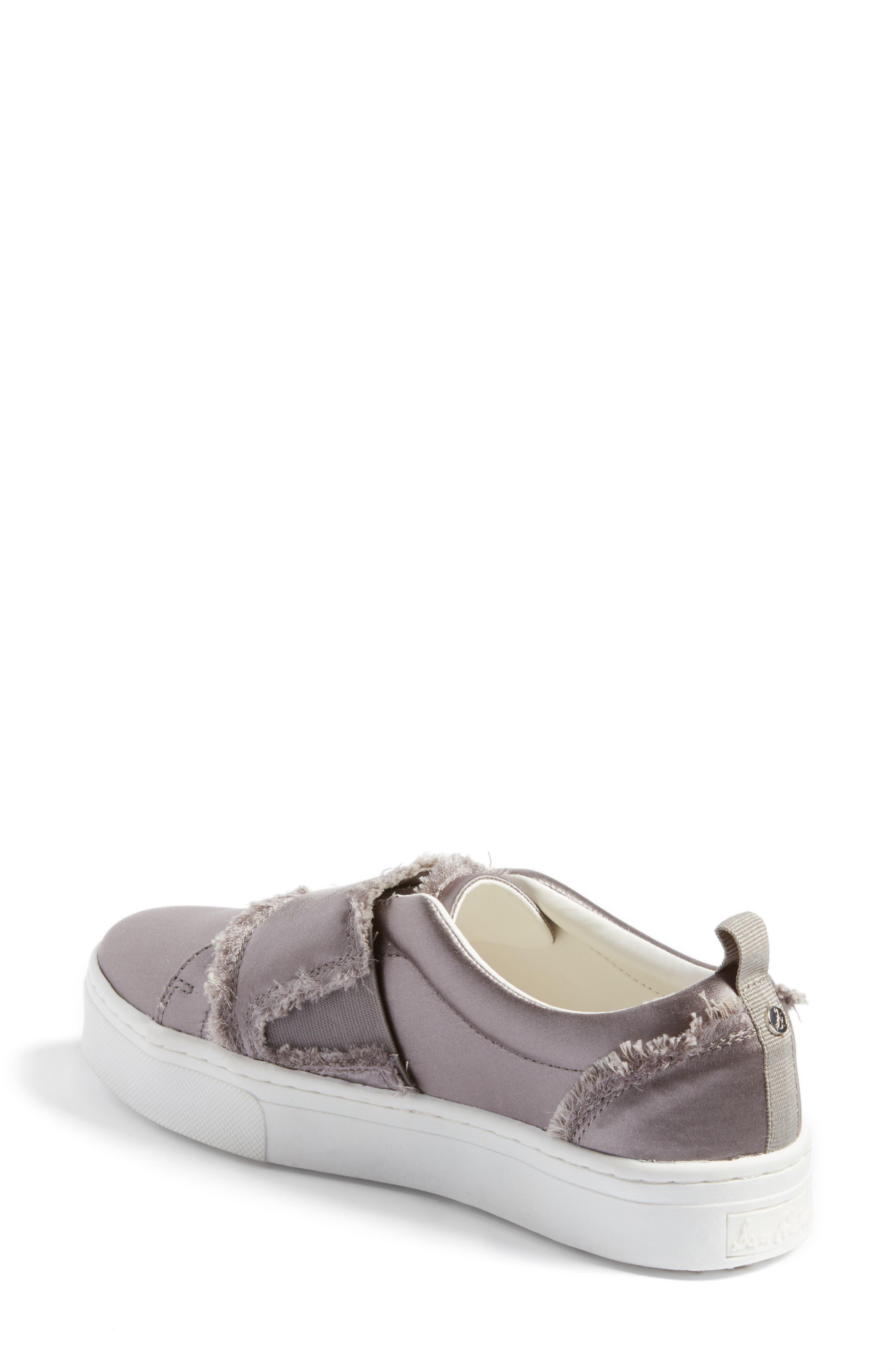 Levine Fringe Slip-On Platform Sneaker,                             Alternate thumbnail 2, color,                             020