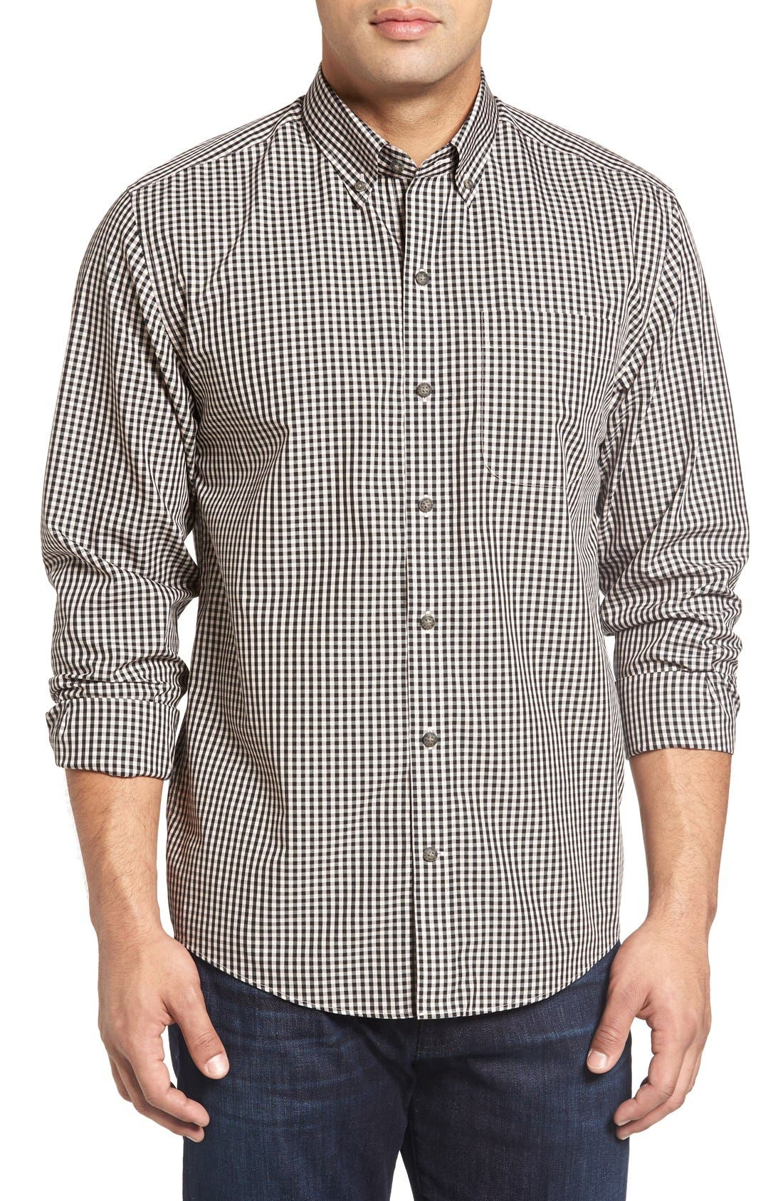 'Willard' Check Sport Shirt,                             Main thumbnail 1, color,                             019