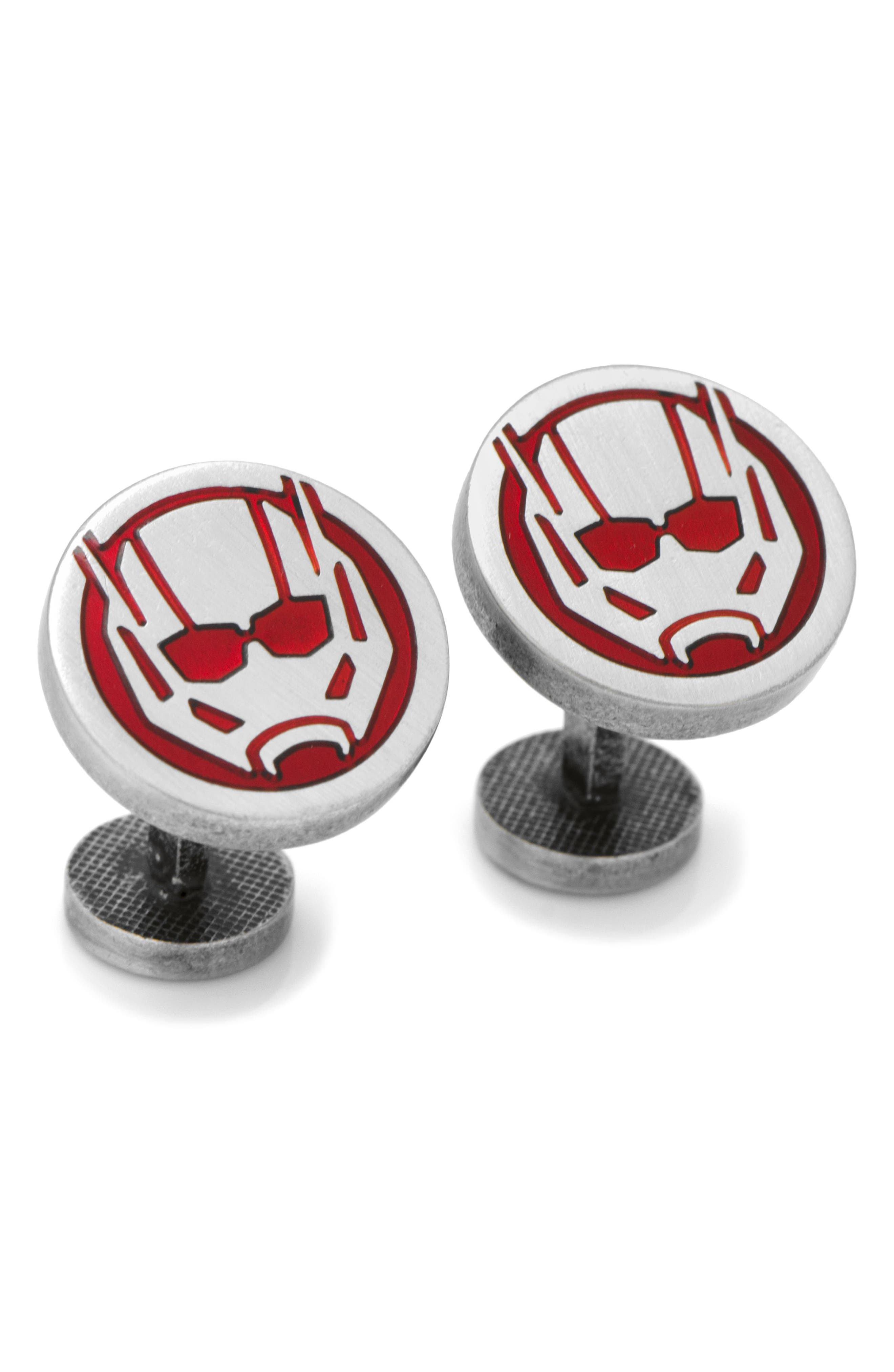Ant-Man Cuff Links,                             Main thumbnail 1, color,                             RED