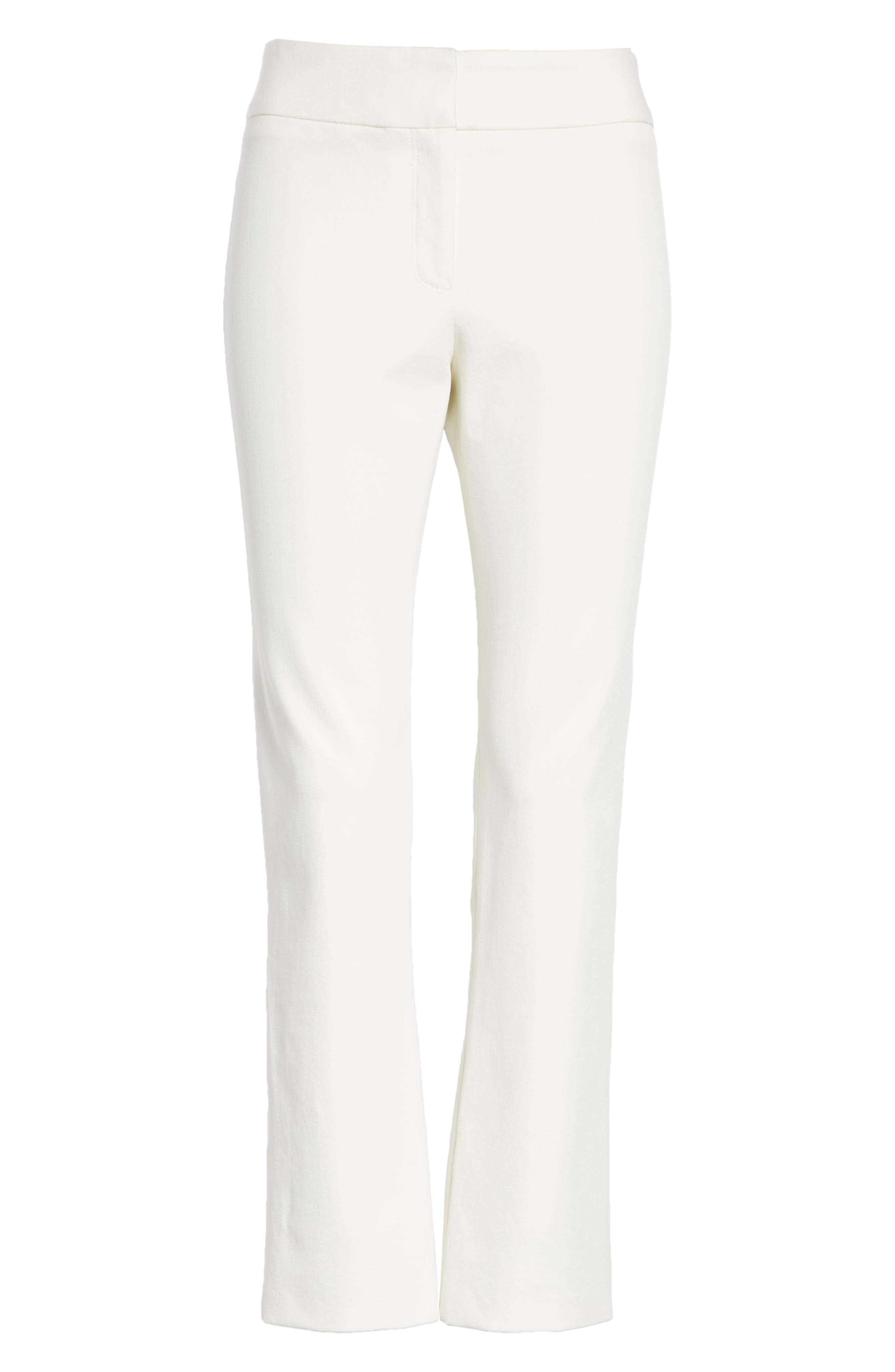 Rumi Slim Leg Pants,                             Alternate thumbnail 6, color,                             OFF-WHITE