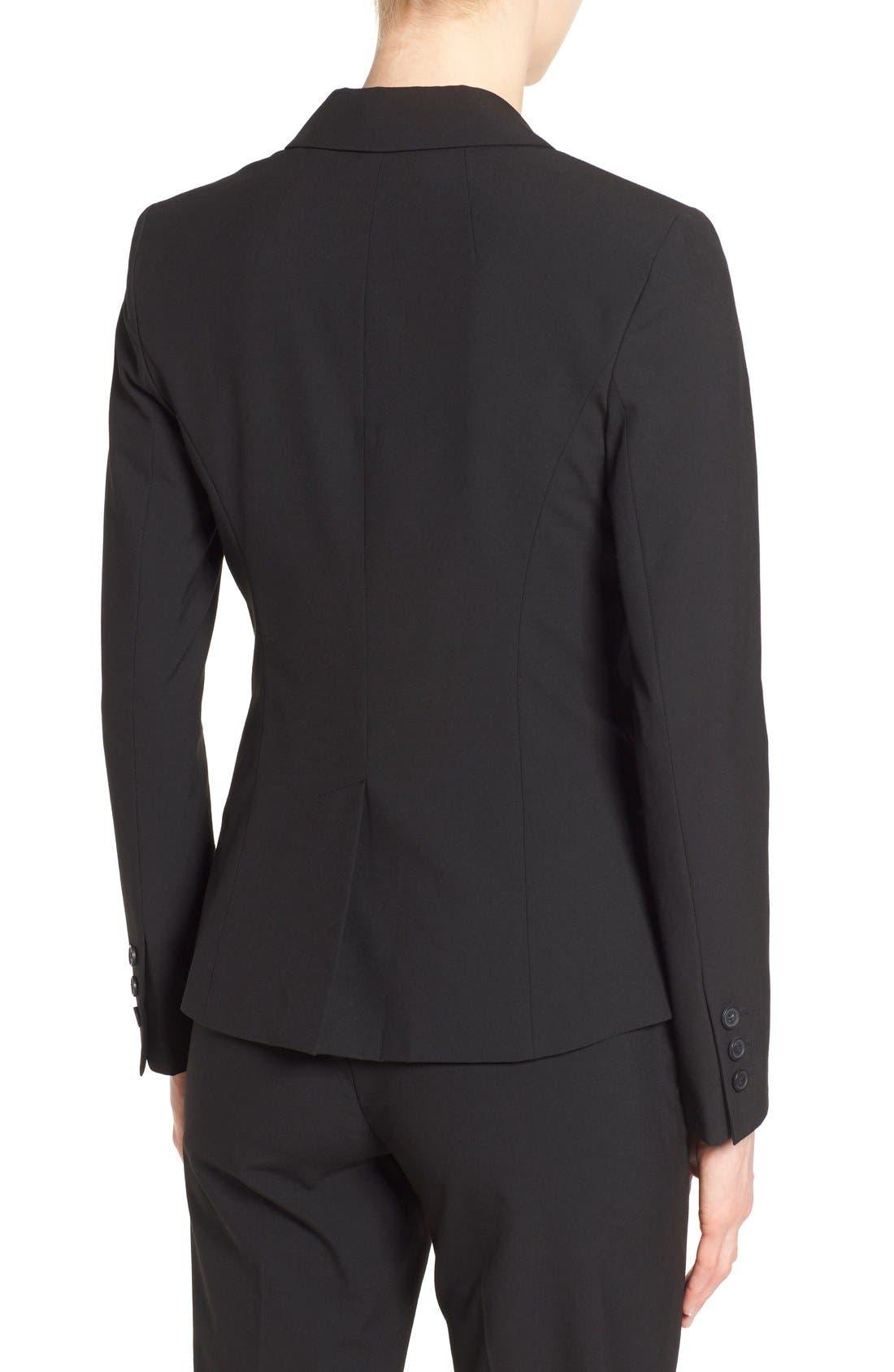 One-Button Stretch Suit Jacket,                             Alternate thumbnail 4, color,                             001