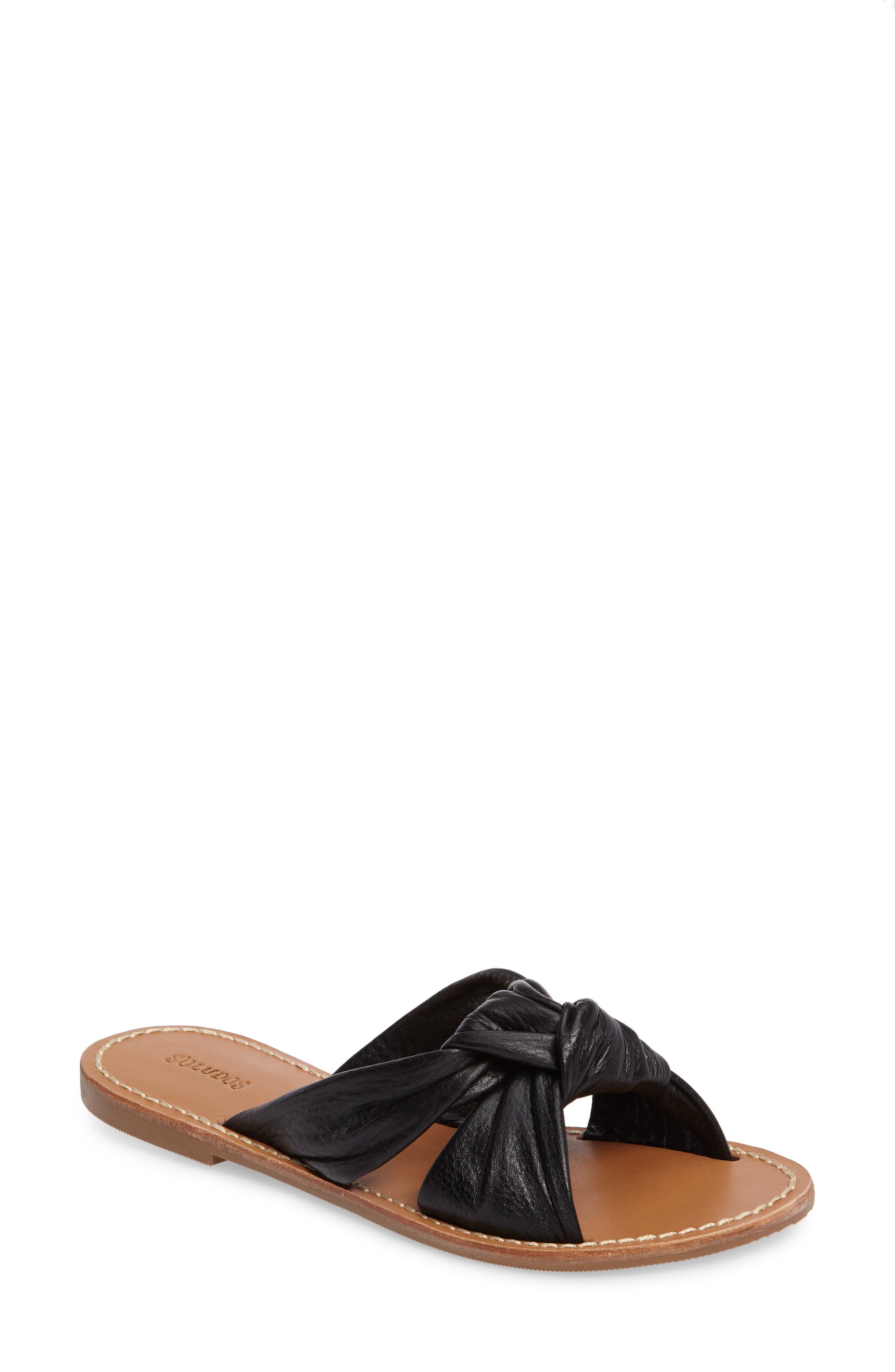 Knotted Slide Sandal,                             Main thumbnail 1, color,                             001
