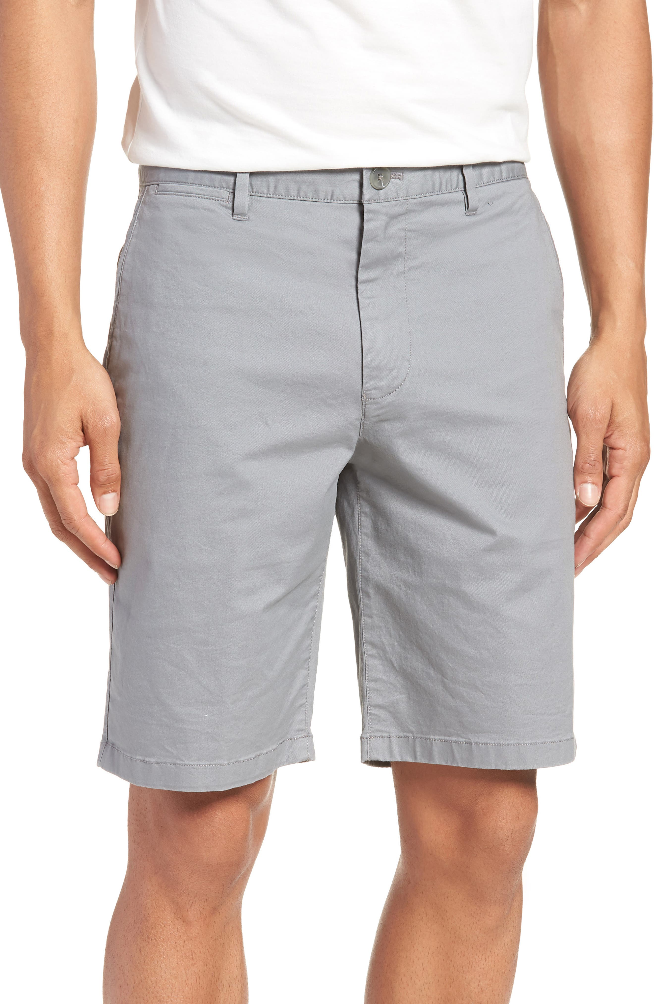 9-Inch Lightweight Stretch Chino Shorts,                         Main,                         color, NICKEL