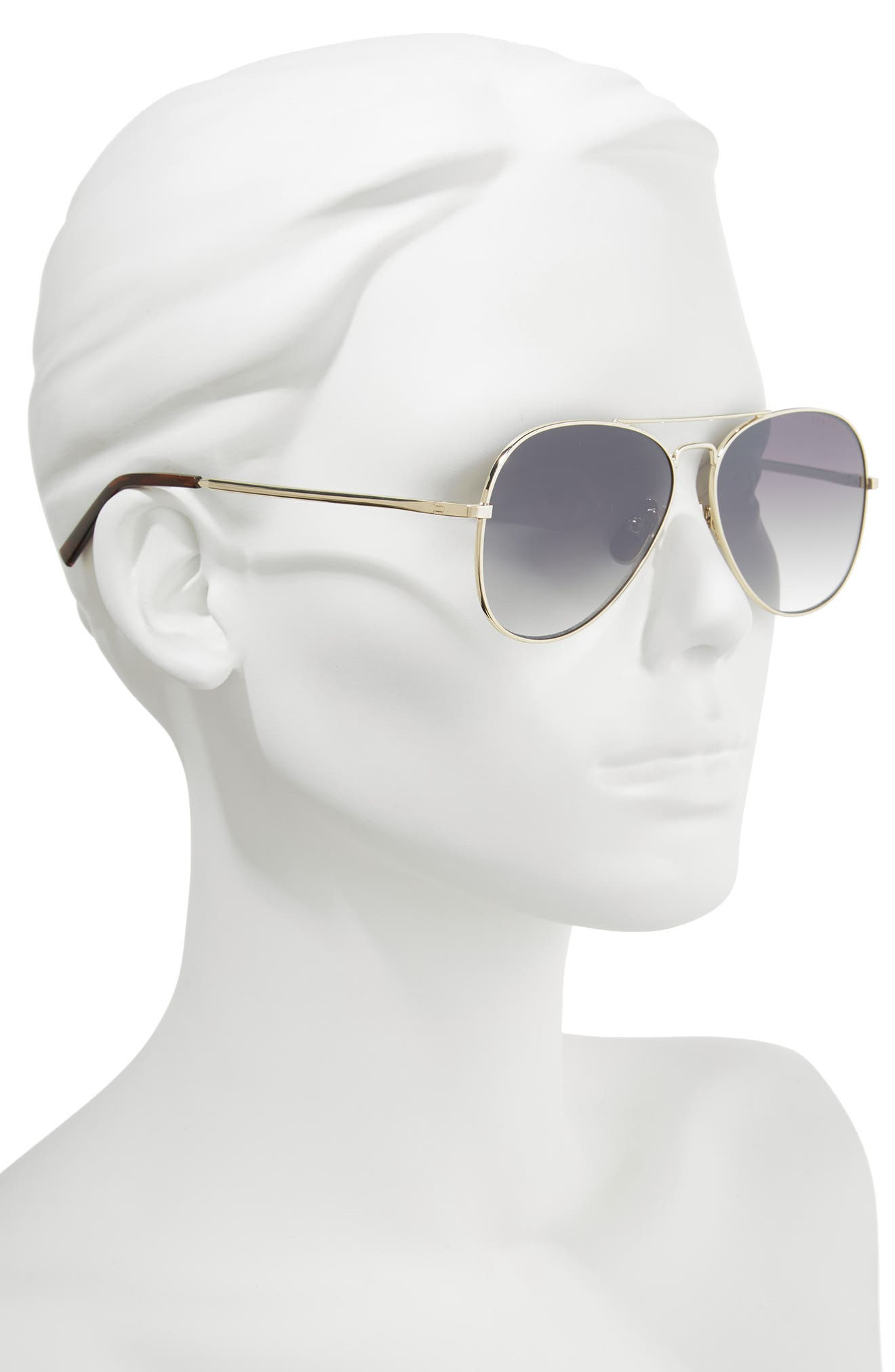 Noosa 51mm Metal Aviator Sunglasses,                             Alternate thumbnail 2, color,                             GOLD