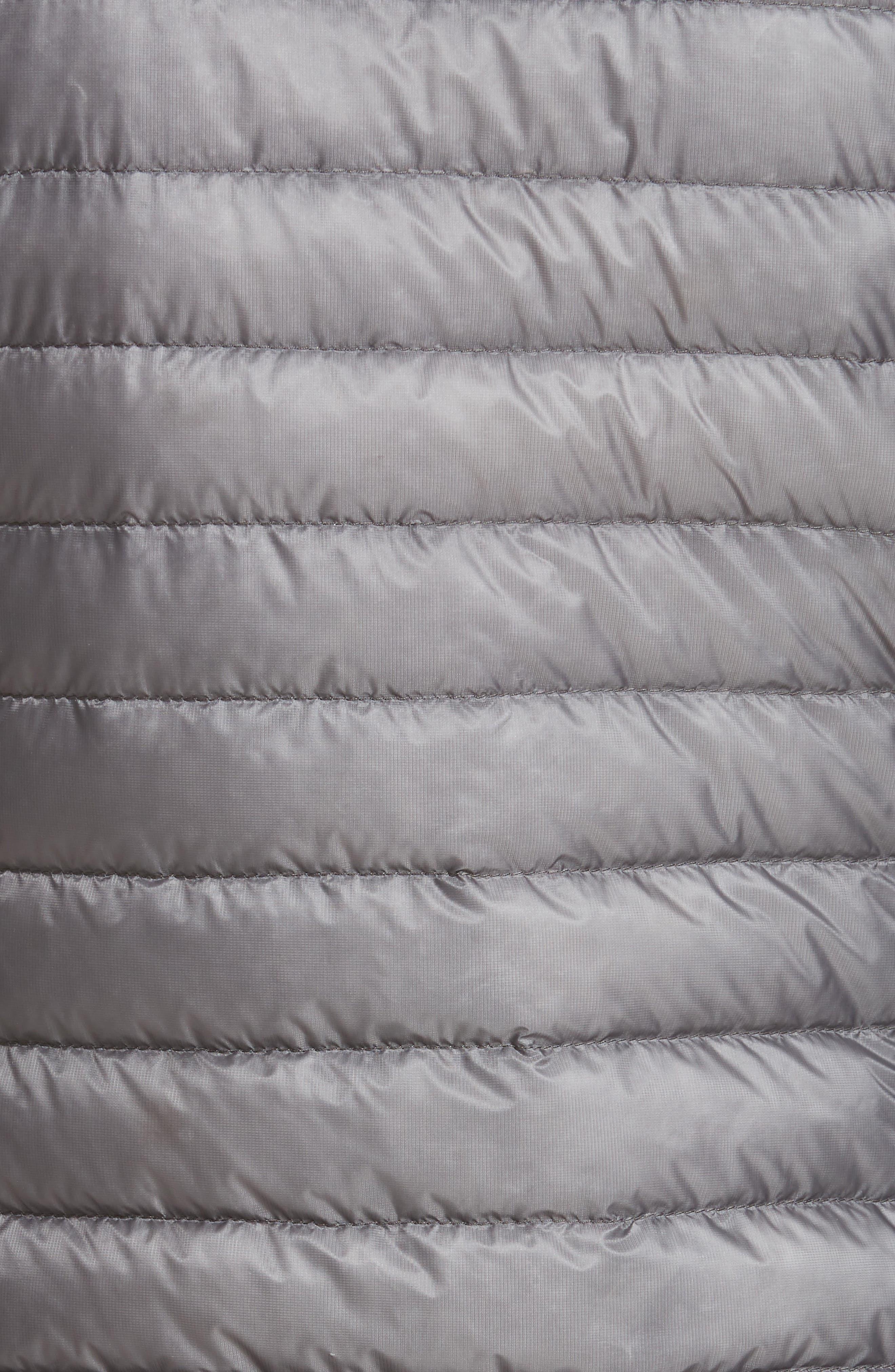 Sorbus Genuine Mink Fur Trim Quilted Jacket,                             Alternate thumbnail 6, color,                             GREY