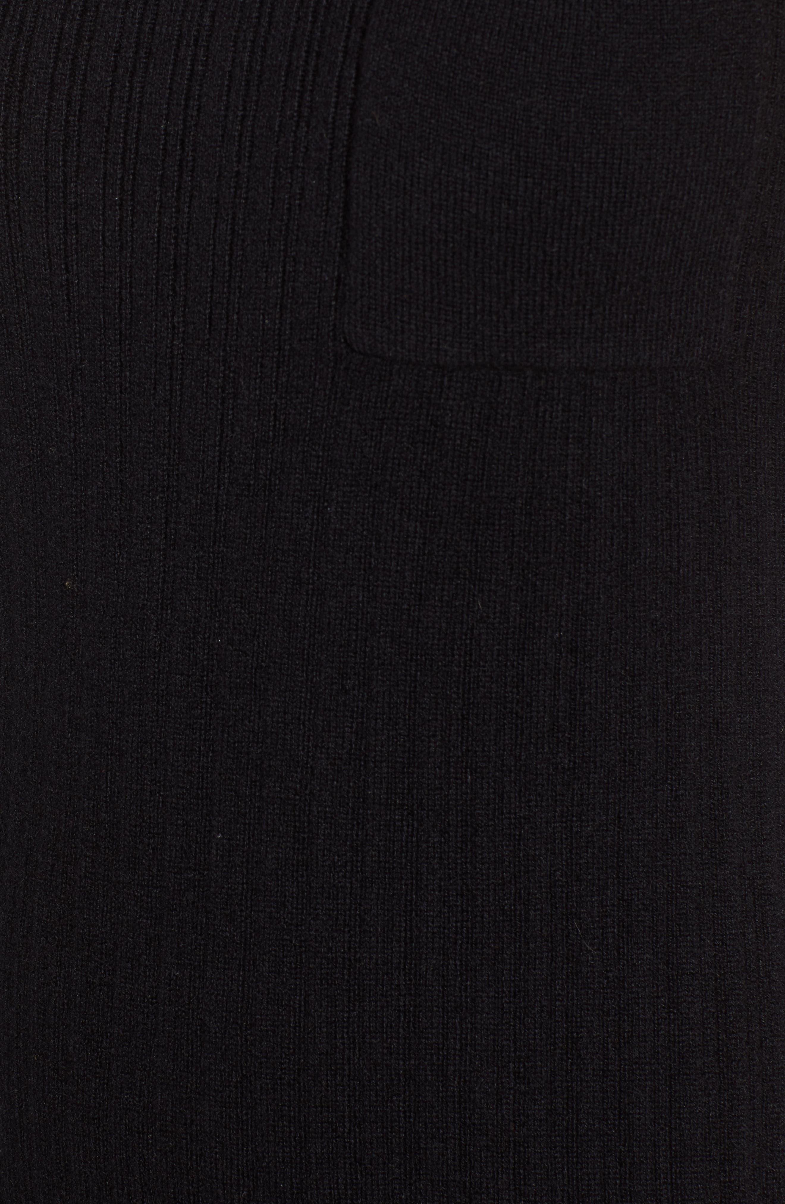 N:PHILANTHROPY,                             Henry Sweater Dress,                             Alternate thumbnail 6, color,                             BLACK CAT