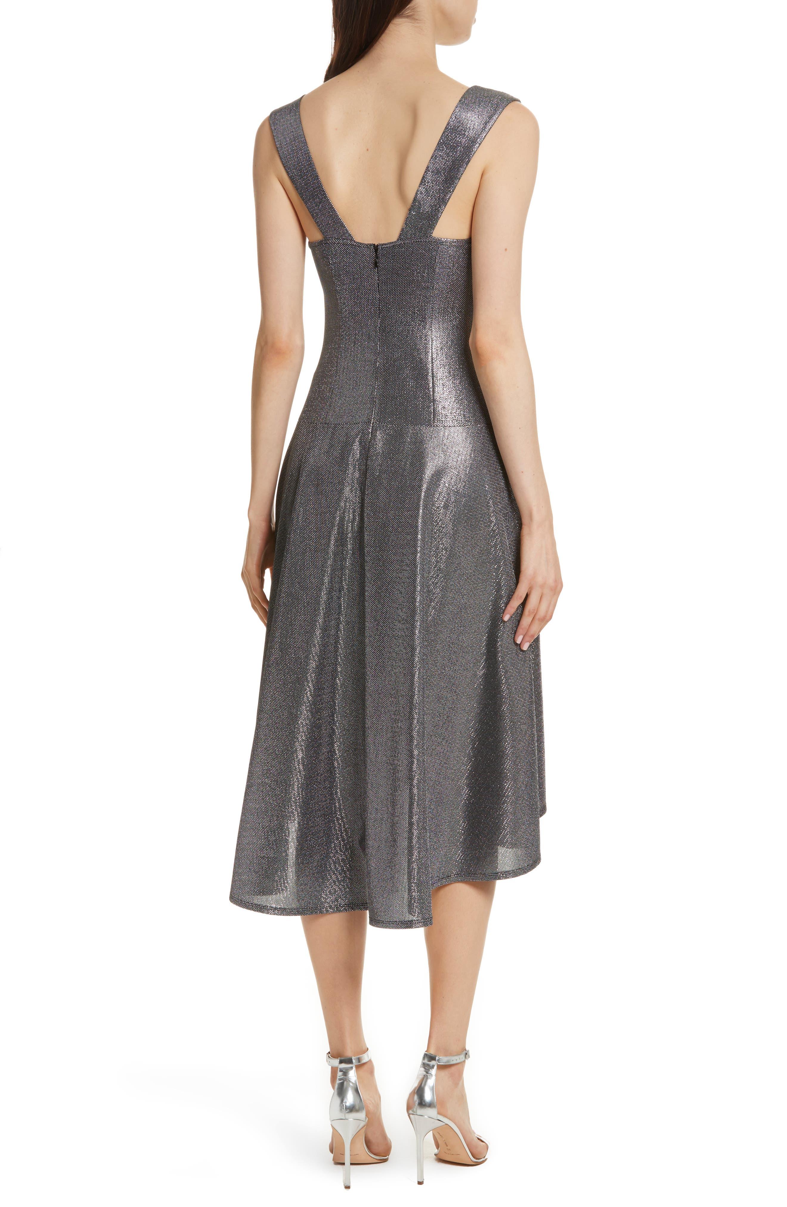 Draped High/Low Dress,                             Alternate thumbnail 2, color,                             045