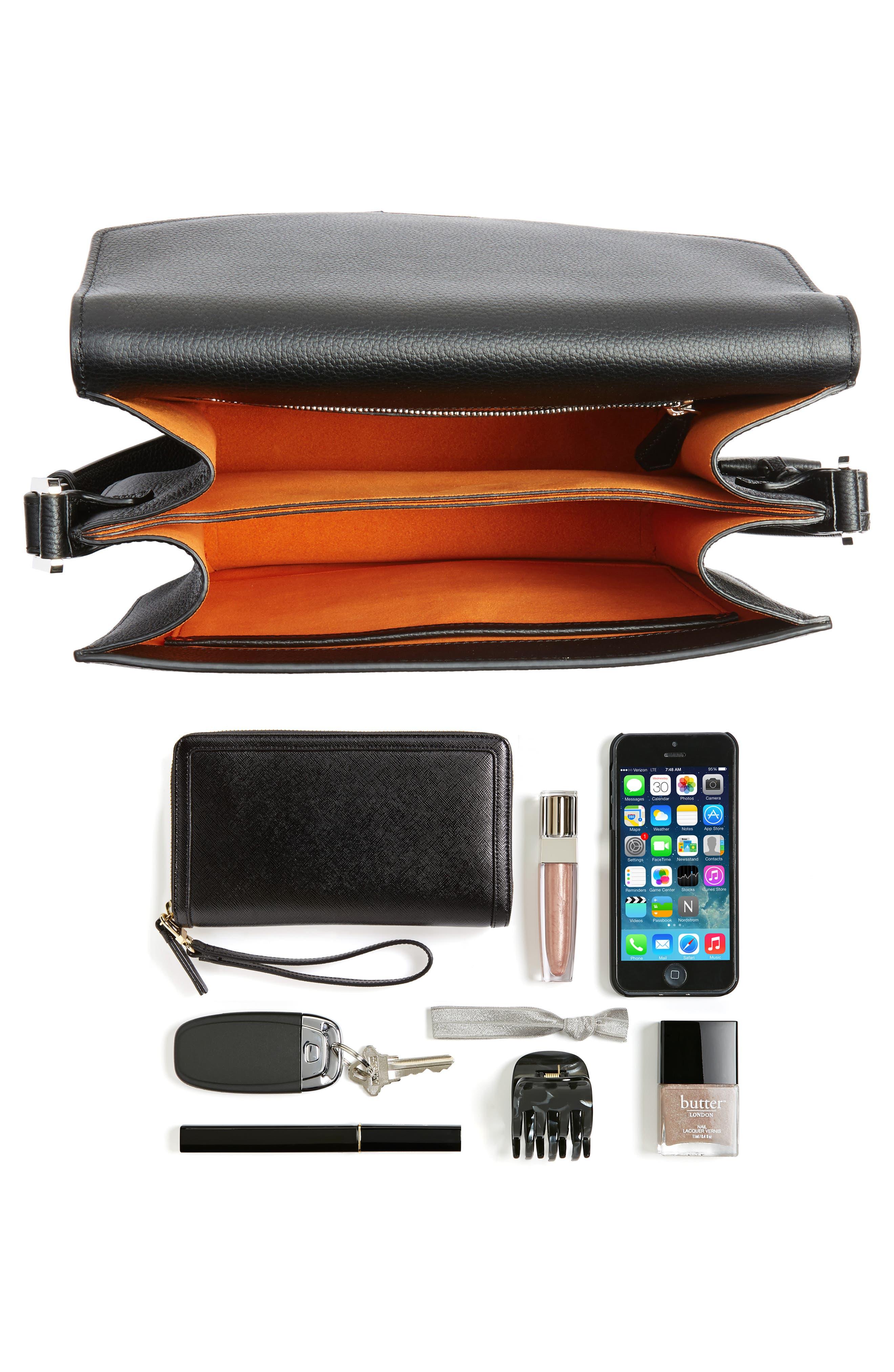 Patricia Studded Outline Leather Shoulder Bag,                             Alternate thumbnail 7, color,
