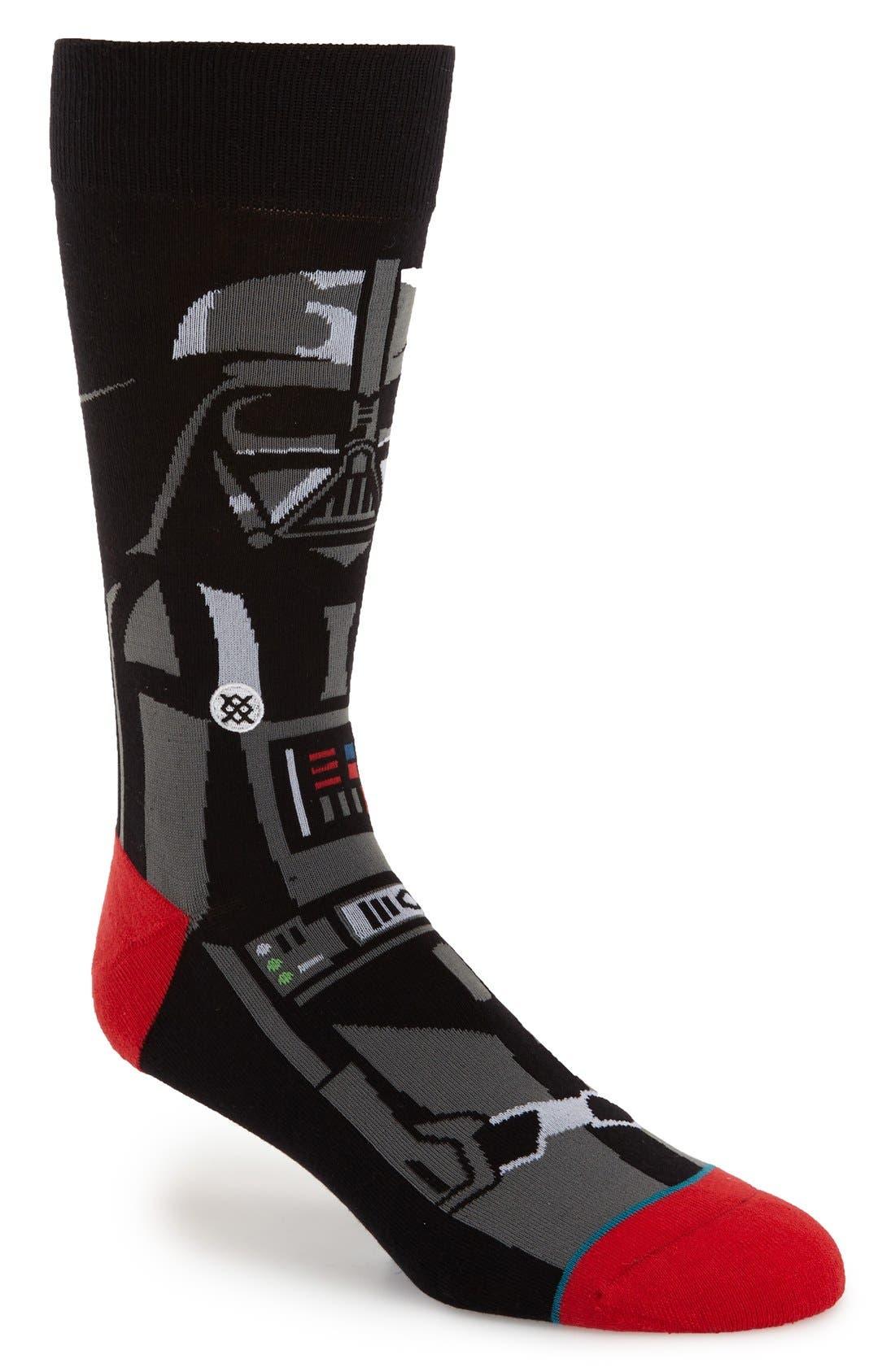 'Star Wars<sup>™</sup> - Darth Vader' Socks, Main, color, 001