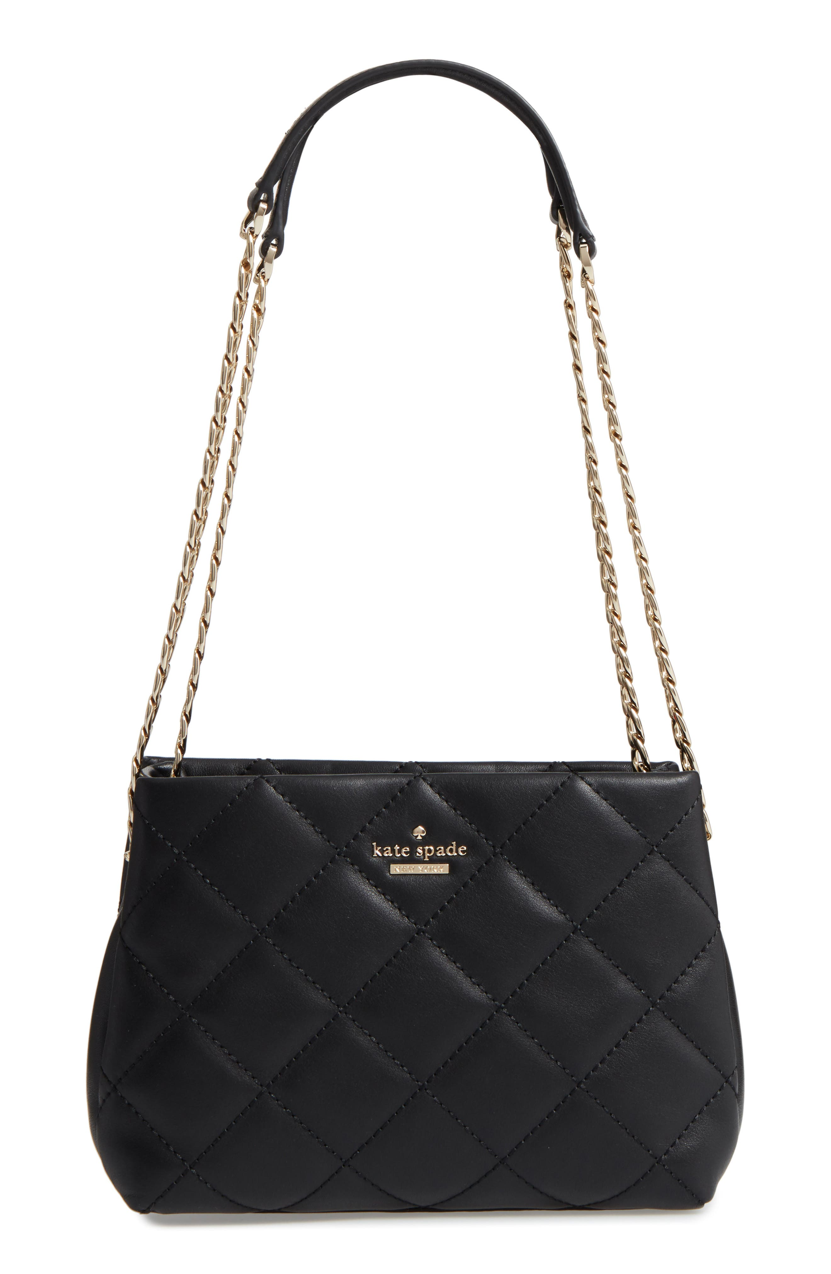 emerson place - jenia quilted leather shoulder bag,                             Main thumbnail 1, color,                             001
