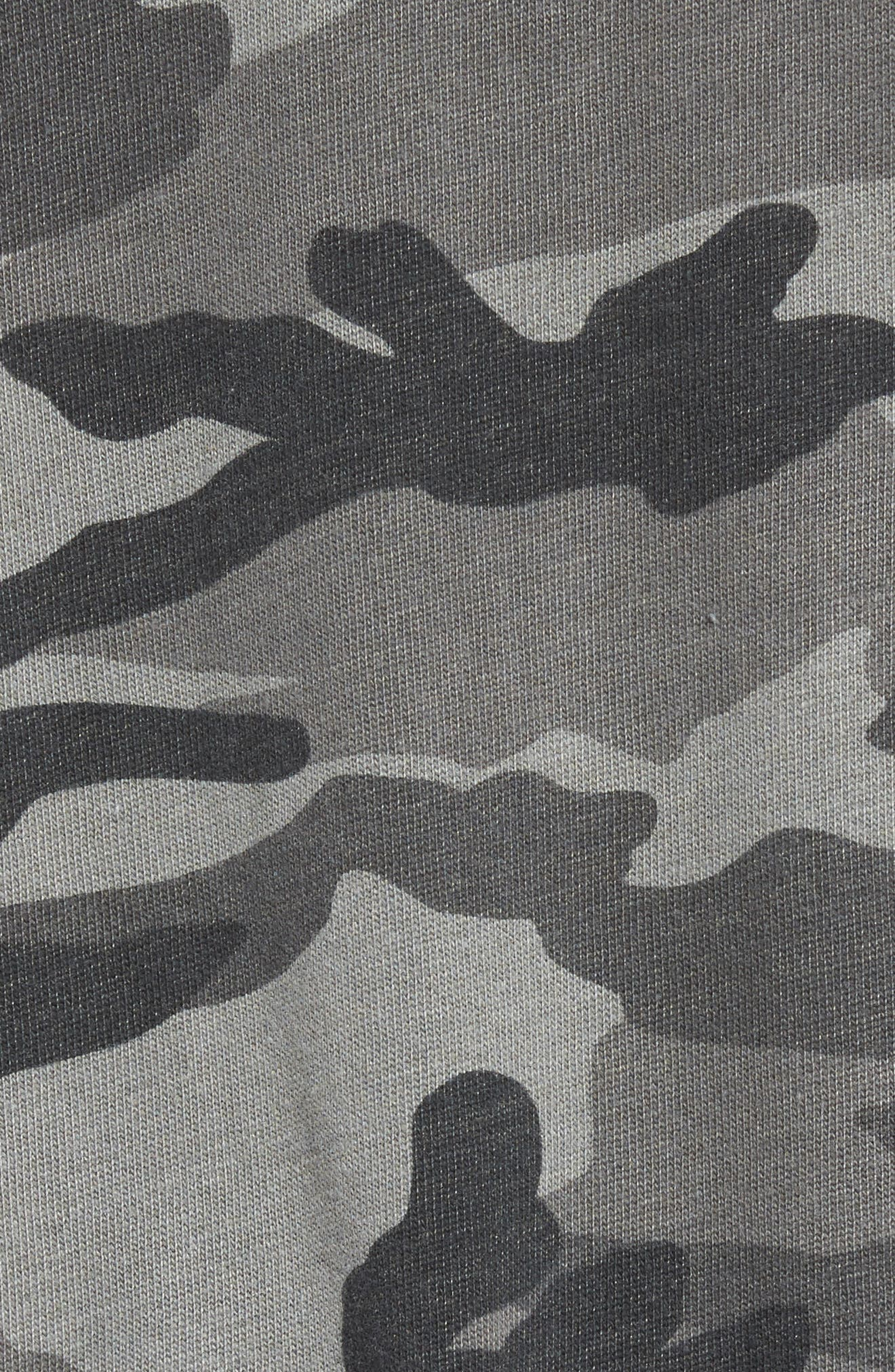 French Terry Camo Sweatshirt,                             Alternate thumbnail 5, color,                             301