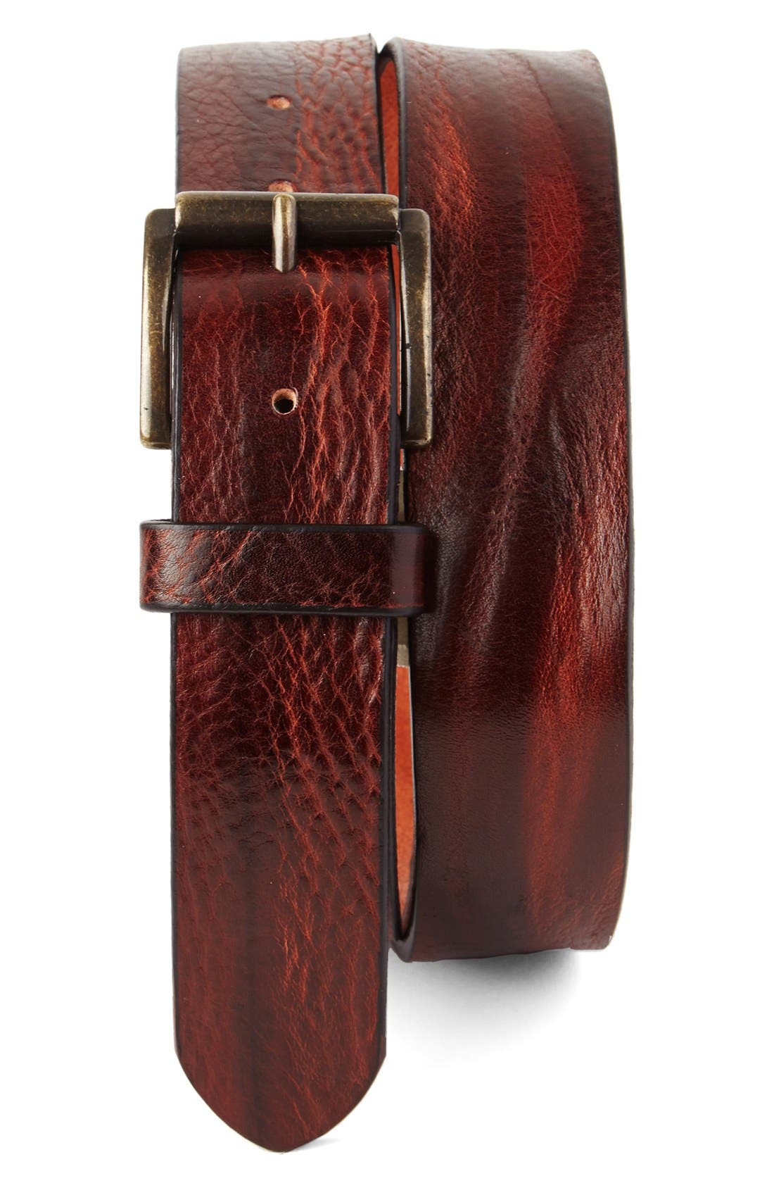 Tommy Bahama Leather Belt,                         Main,                         color, 643
