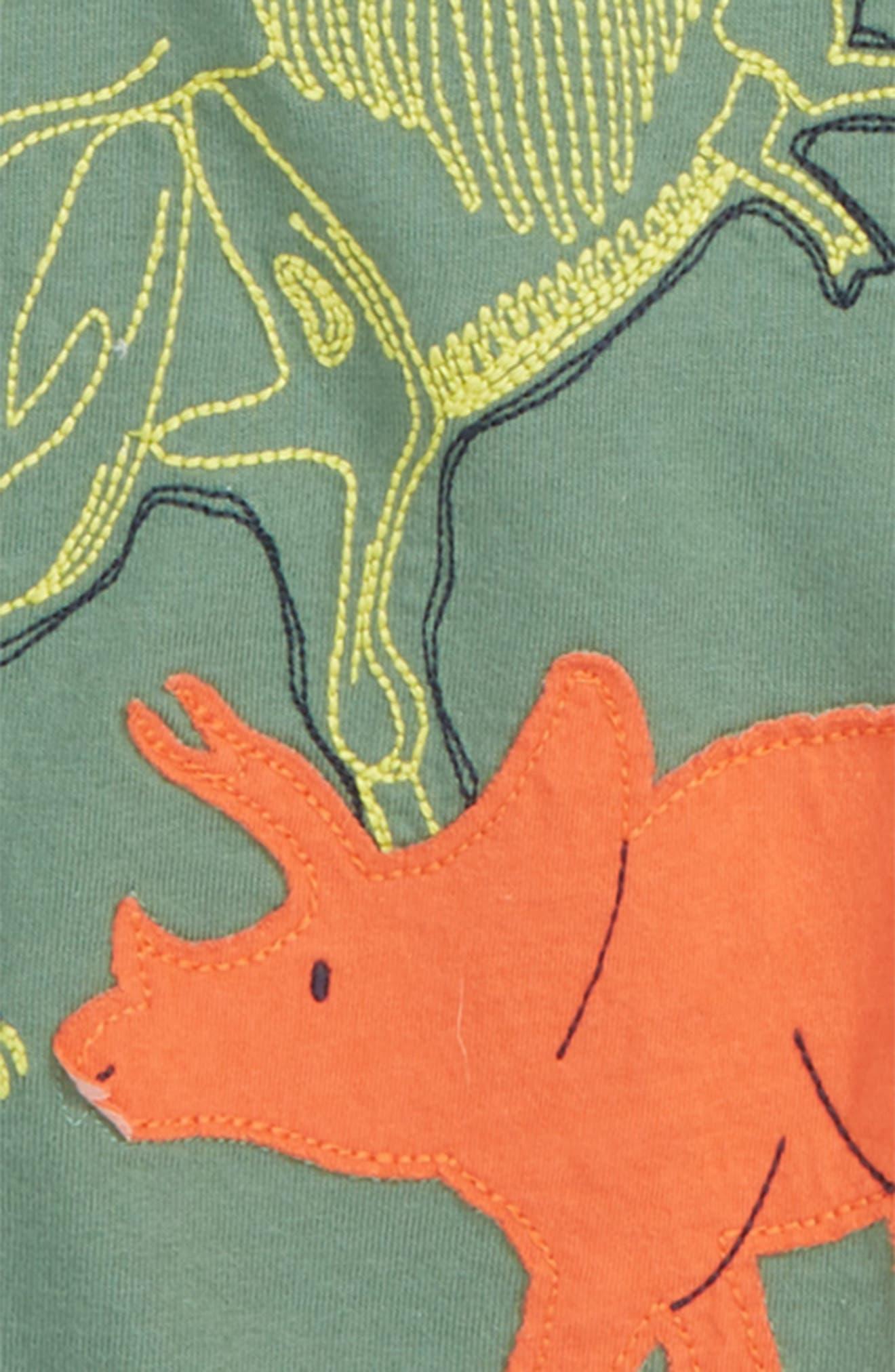Textured Dinos Layered T-Shirt,                             Alternate thumbnail 2, color,                             ROSEMARY GREEN