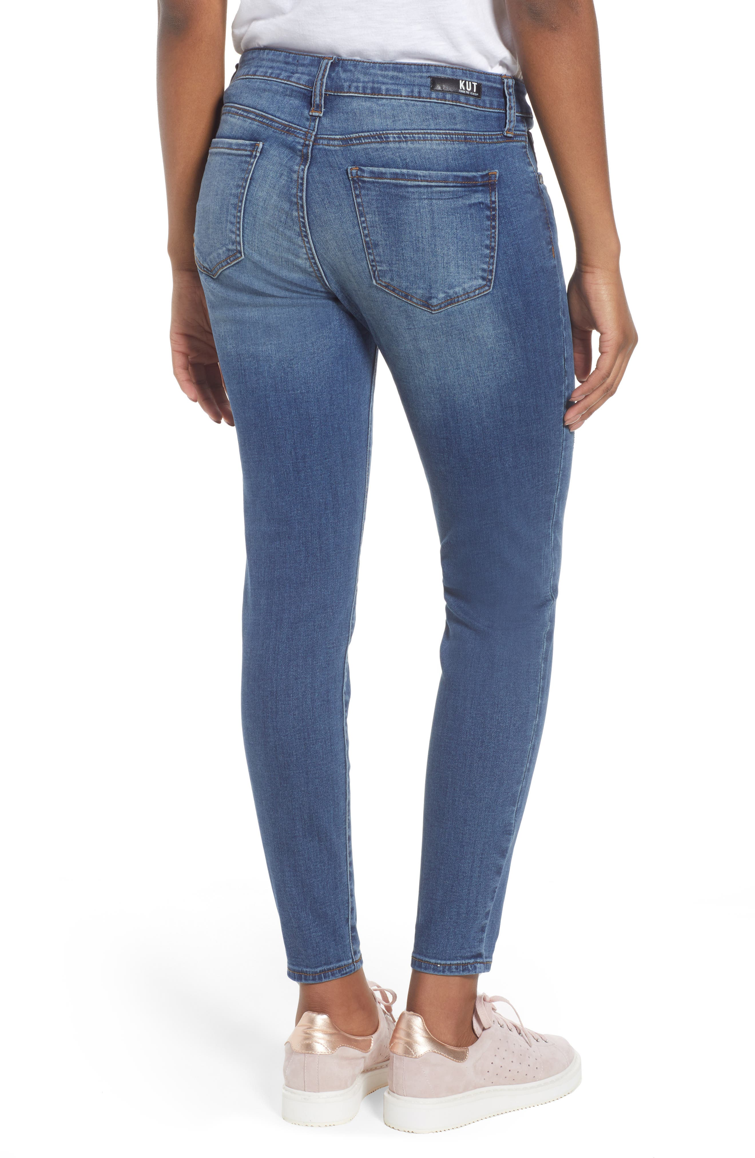 Donna Skinny Ankle Jeans,                             Alternate thumbnail 2, color,                             460