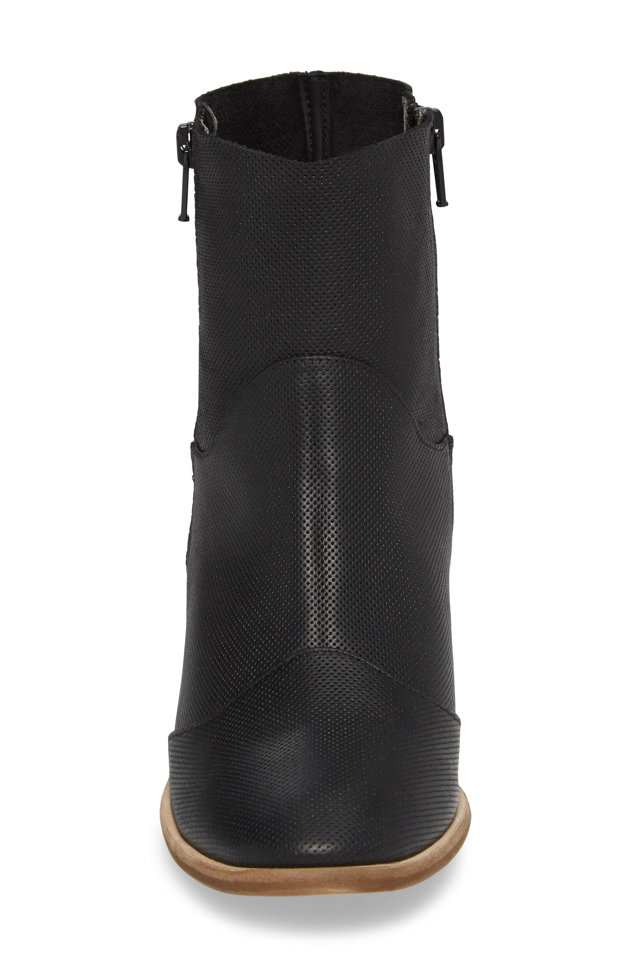 Robin Bootie,                             Alternate thumbnail 4, color,                             BLACK LEATHER