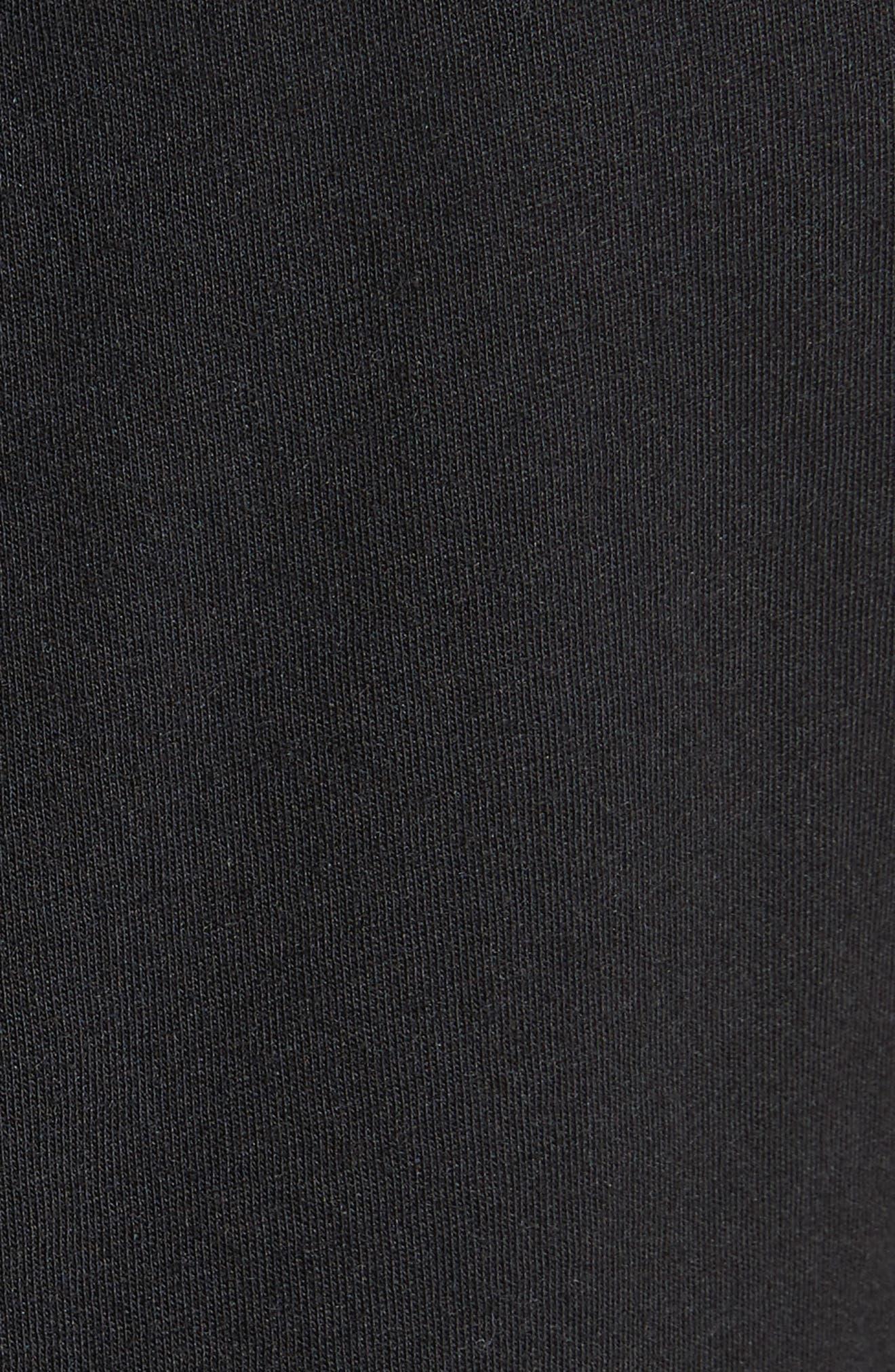 Plume Jersey Scoop Neck Swing Dress,                             Alternate thumbnail 5, color,                             001