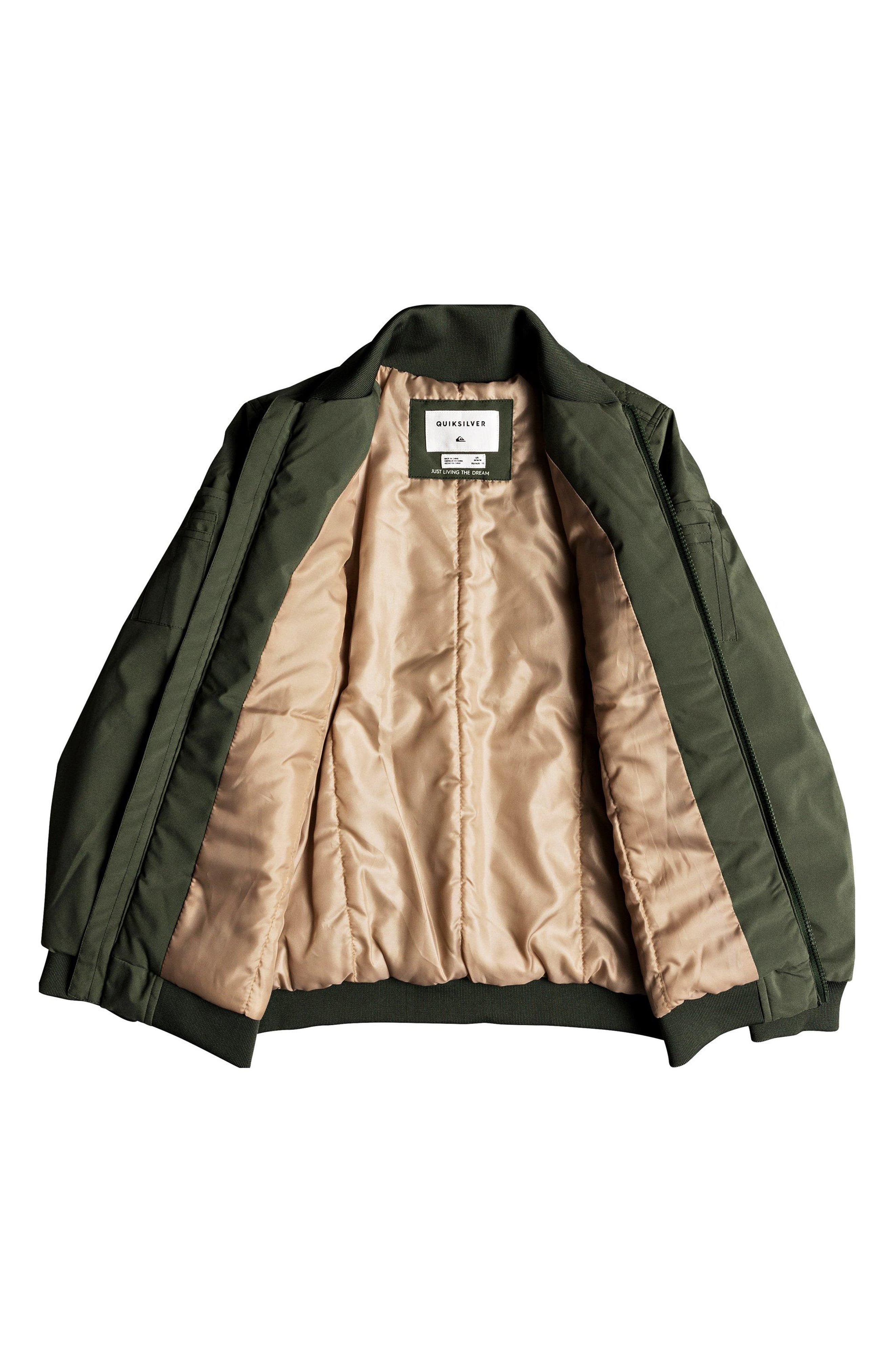Mankai Sun Bomber Jacket,                             Alternate thumbnail 3, color,                             THYME