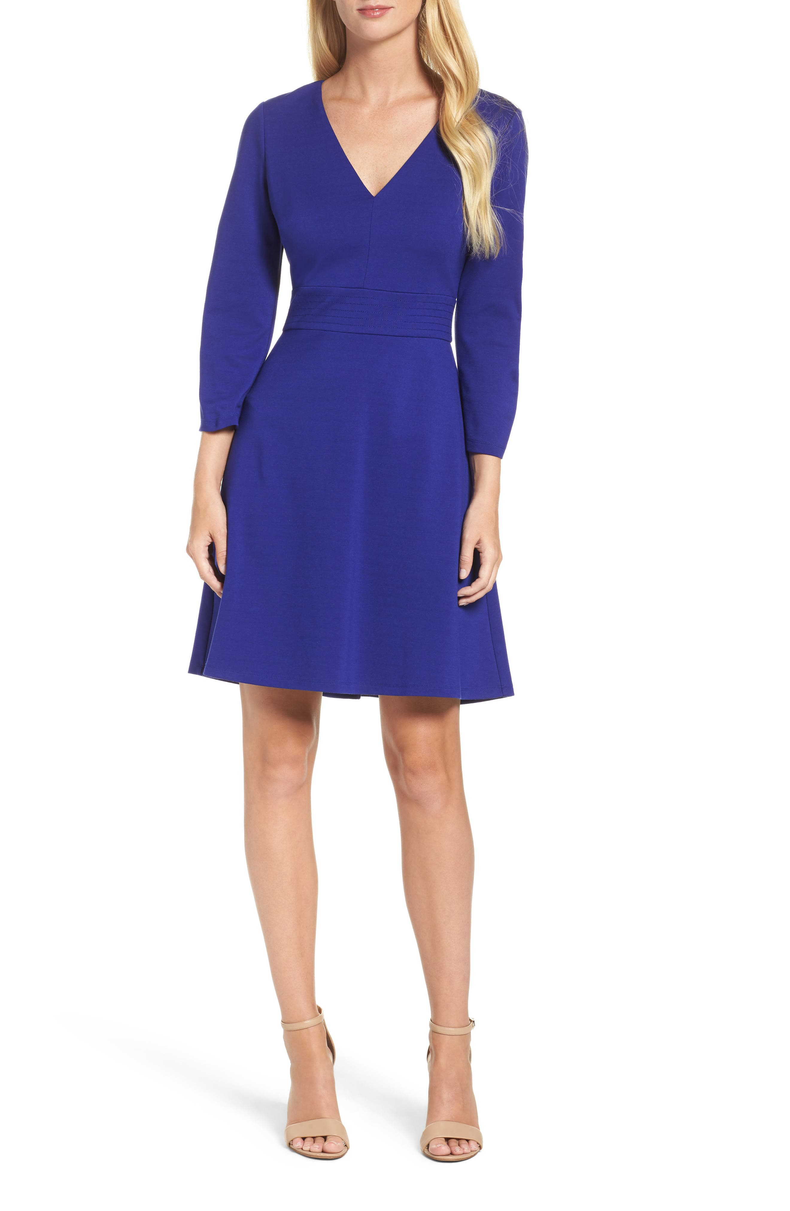 Fit & Flare Dress,                         Main,                         color, 430