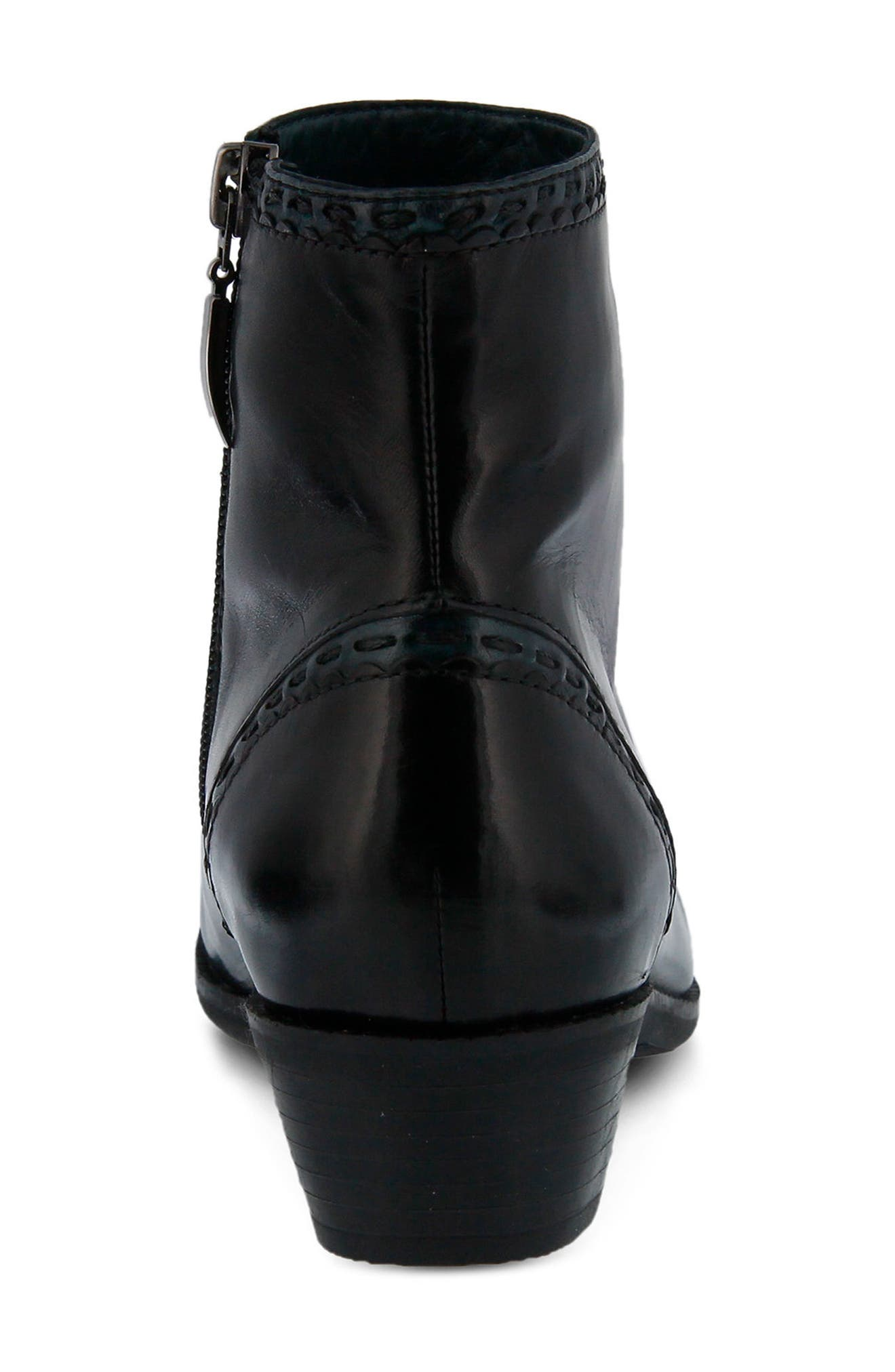 Micaela Bootie,                             Alternate thumbnail 6, color,                             BLACK LEATHER