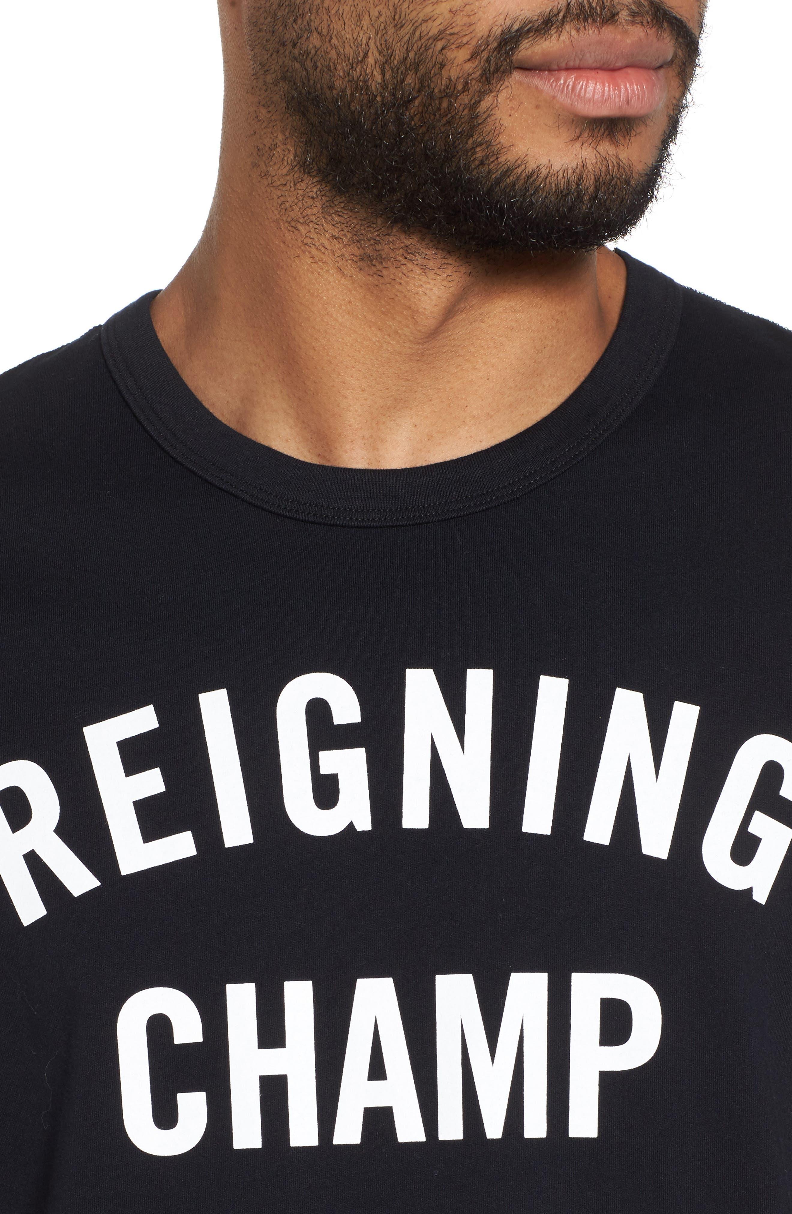 Gym Logo T-Shirt,                             Alternate thumbnail 4, color,                             BLACK/ WHITE