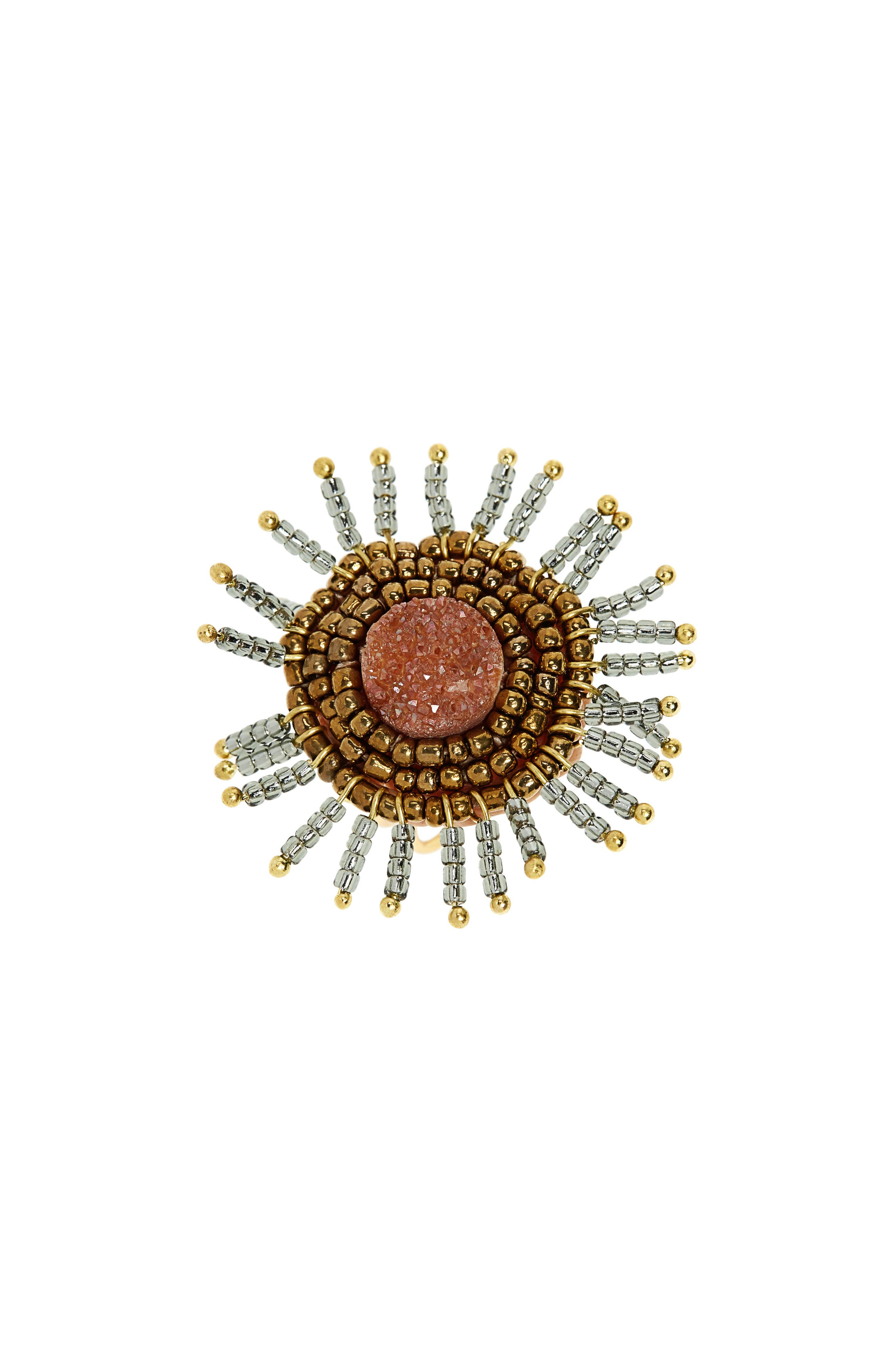 Drusy Beaded Ring,                         Main,                         color, 800