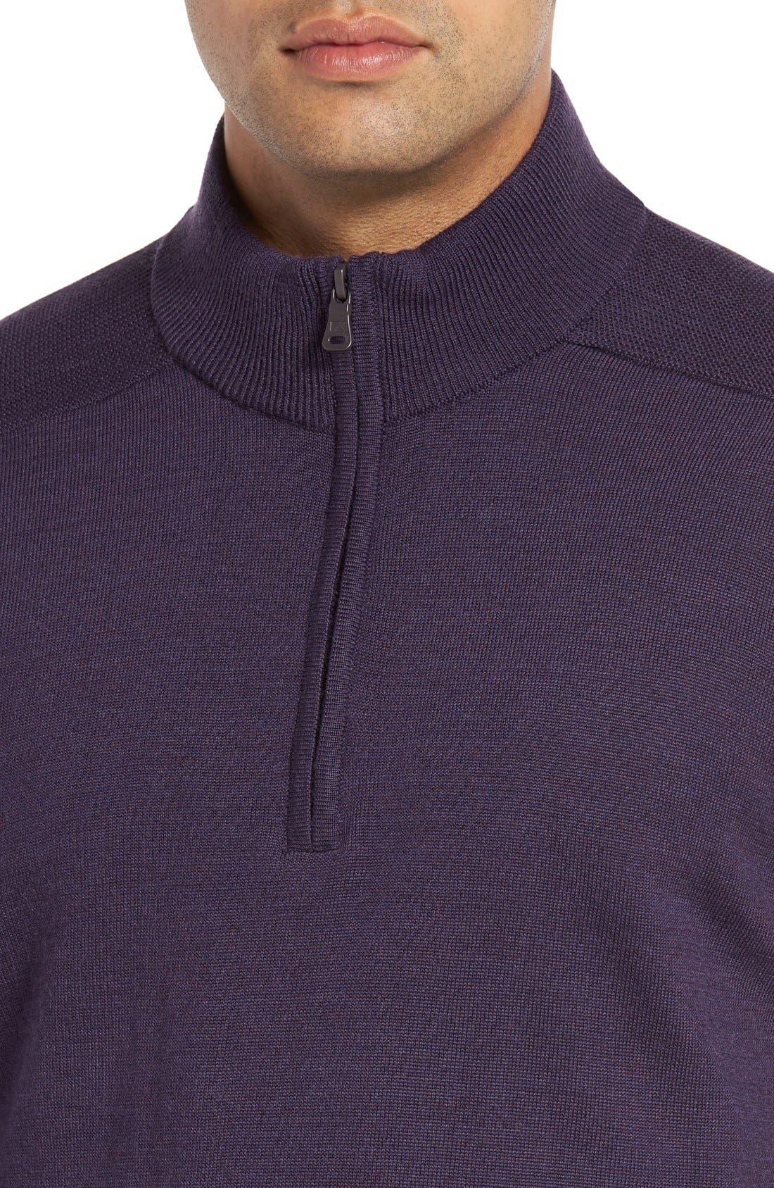 Douglas Quarter Zip Wool Blend Sweater,                             Alternate thumbnail 23, color,