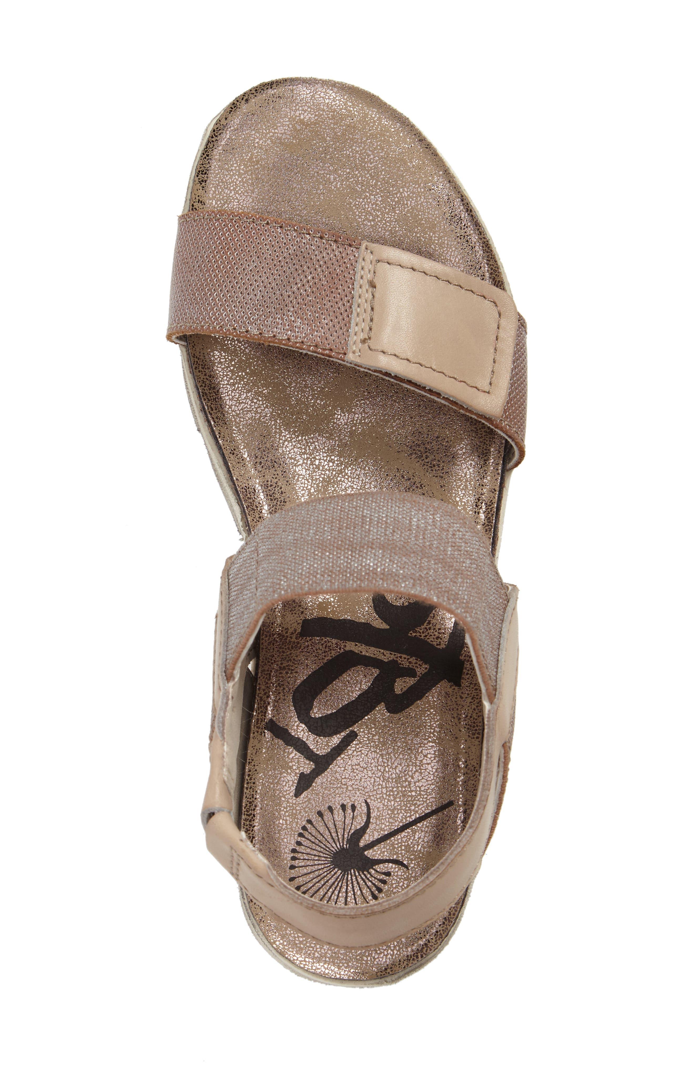 Nova Platform Sandal,                             Alternate thumbnail 5, color,                             SILVER LEATHER