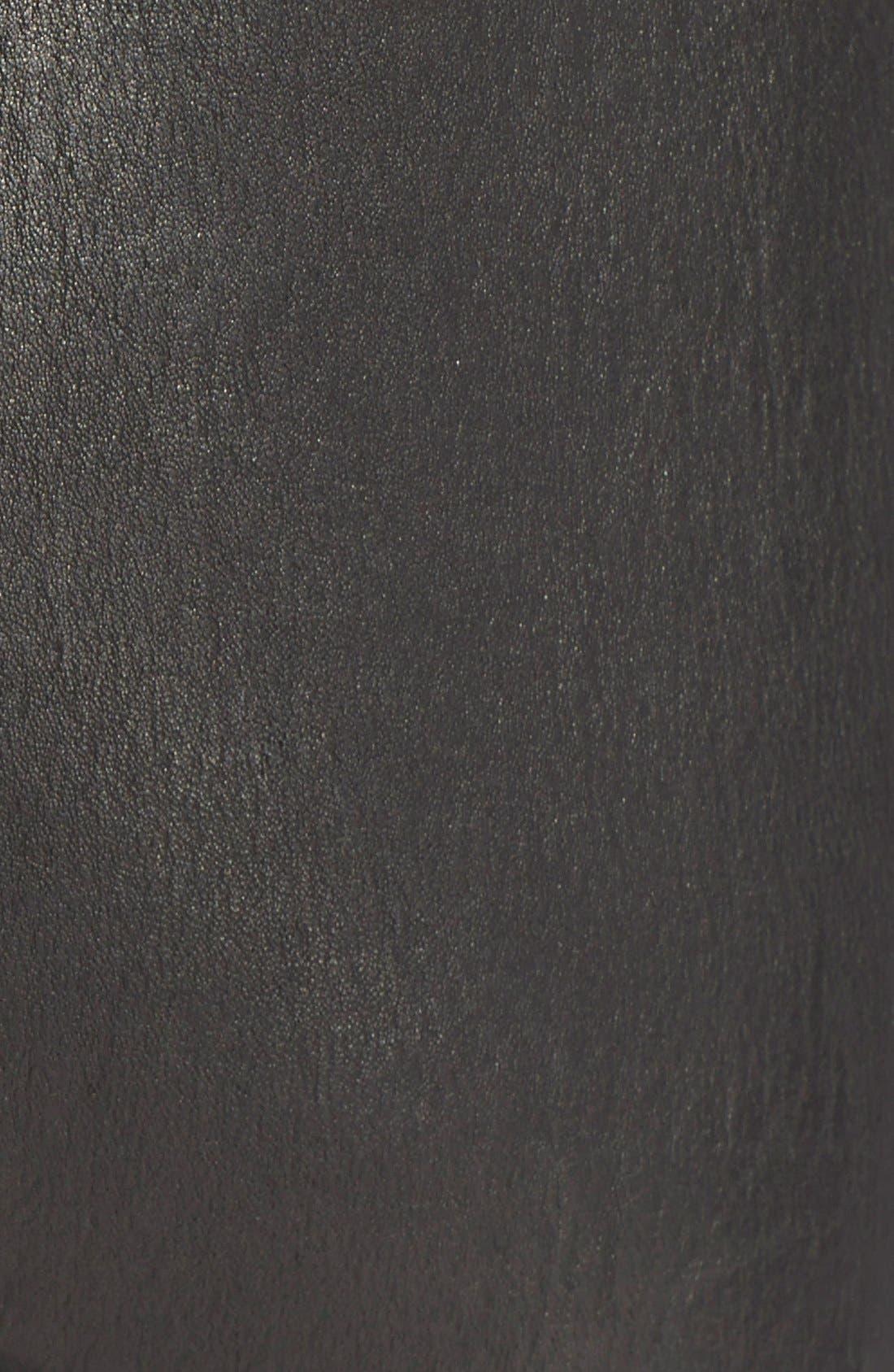 FRAME,                             Denim 'Le Legging' Leather Leggings,                             Alternate thumbnail 3, color,                             001