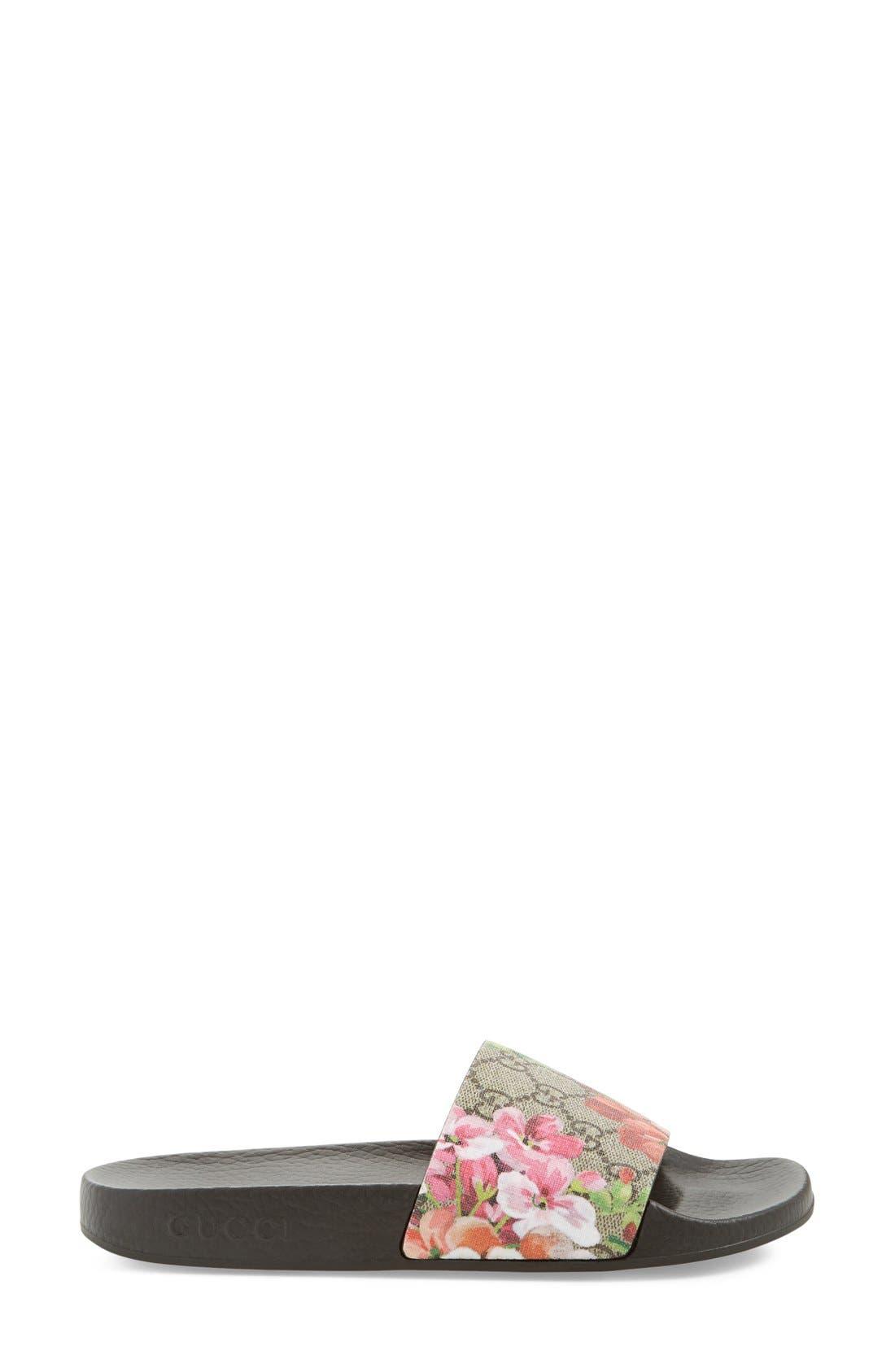 Slide Sandal,                             Alternate thumbnail 3, color,                             MULTI COLOR FABRIC