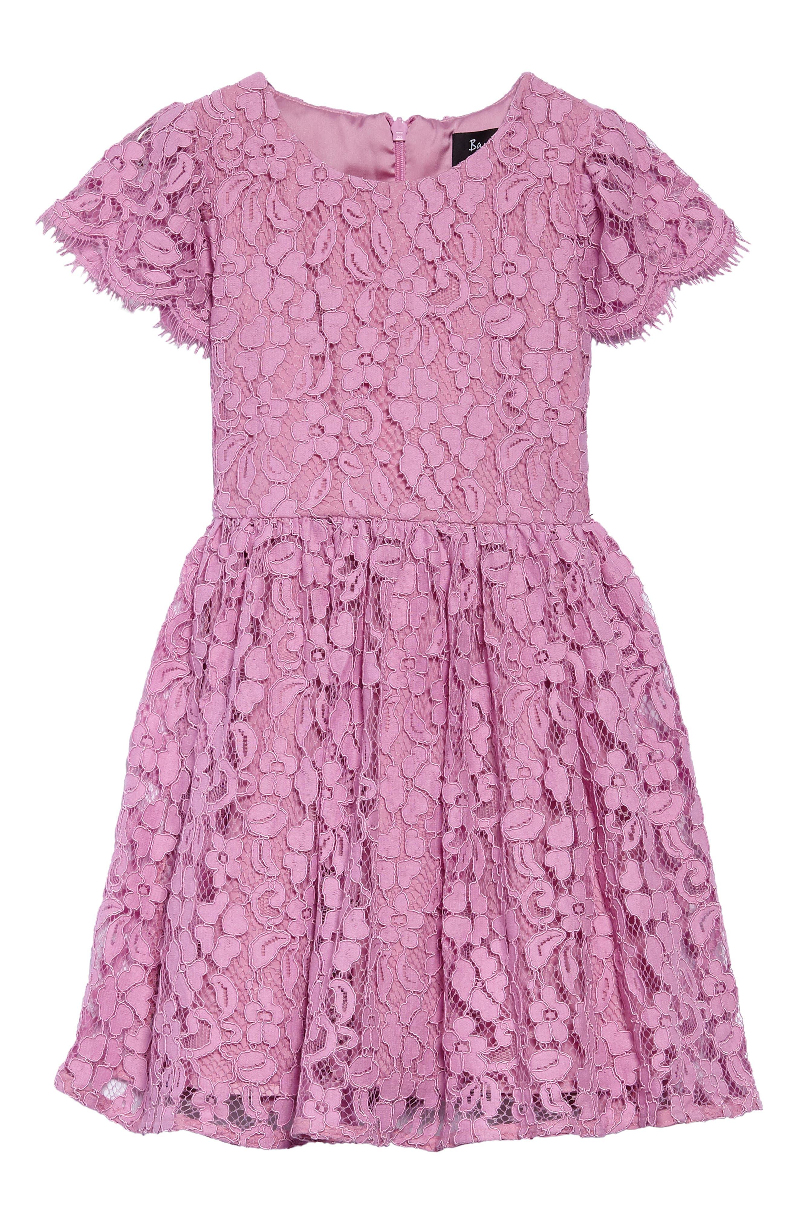 Sienna Floral Lace Dress,                             Main thumbnail 1, color,                             650