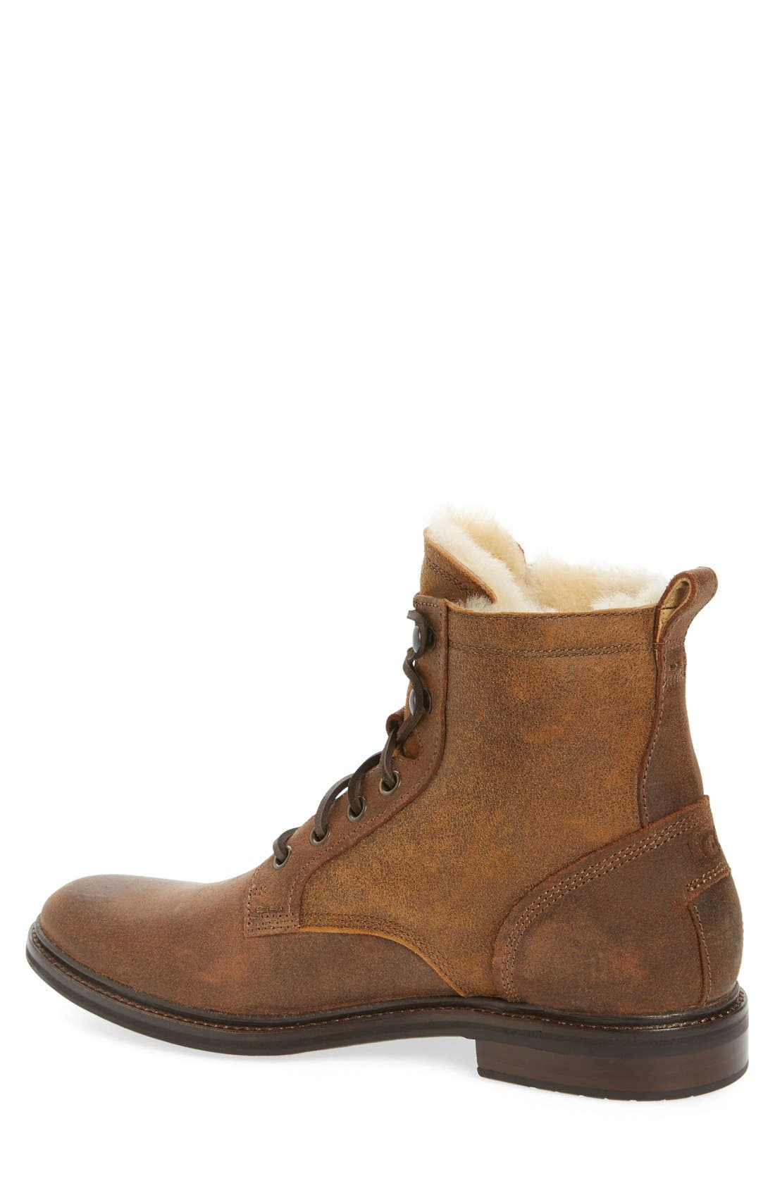 UGG<SUP>®</SUP>,                             Selwood Genuine Shearling Bomber Boot,                             Alternate thumbnail 2, color,                             215