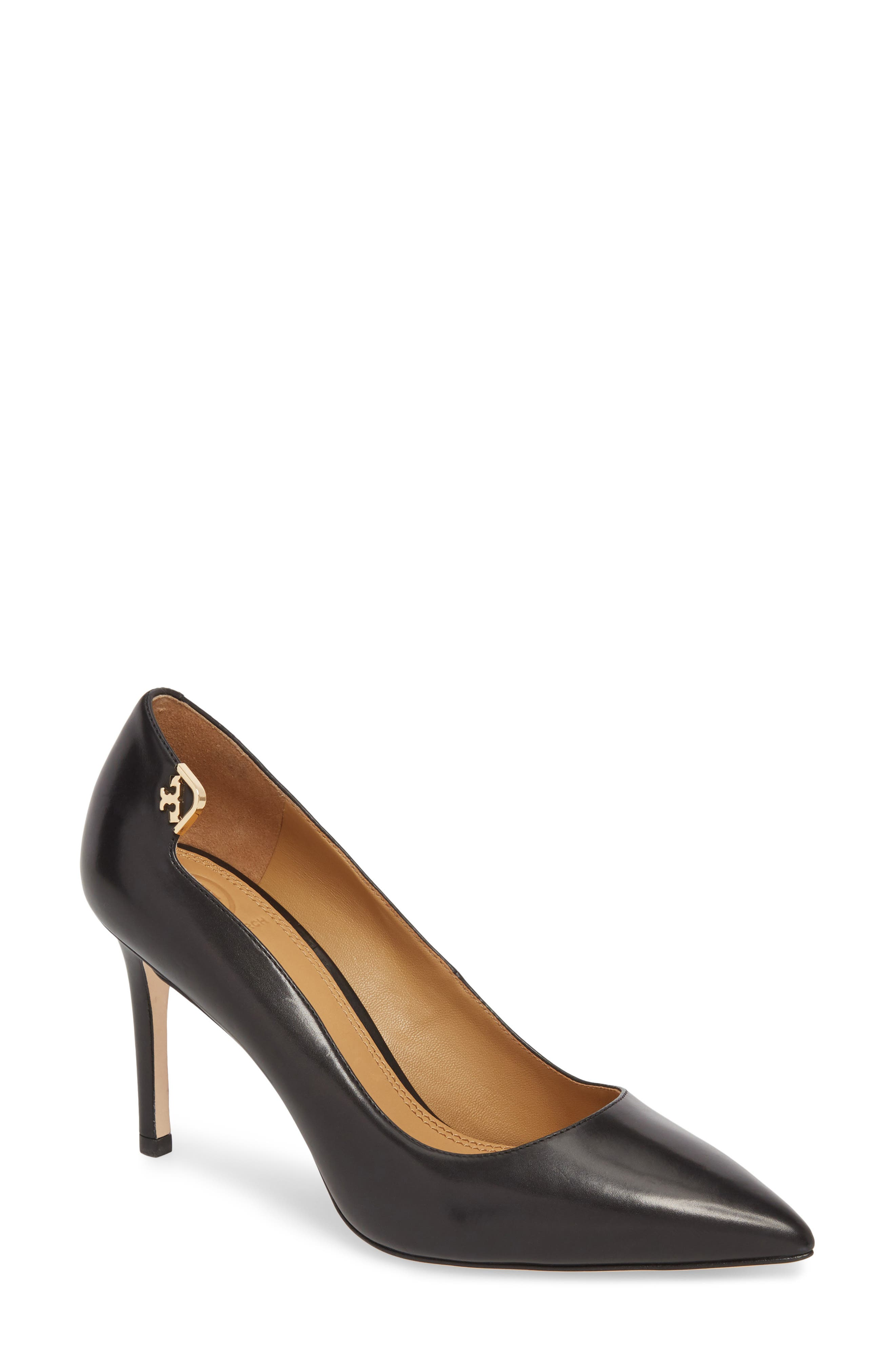 pumps black shoes tori Burch fashion style