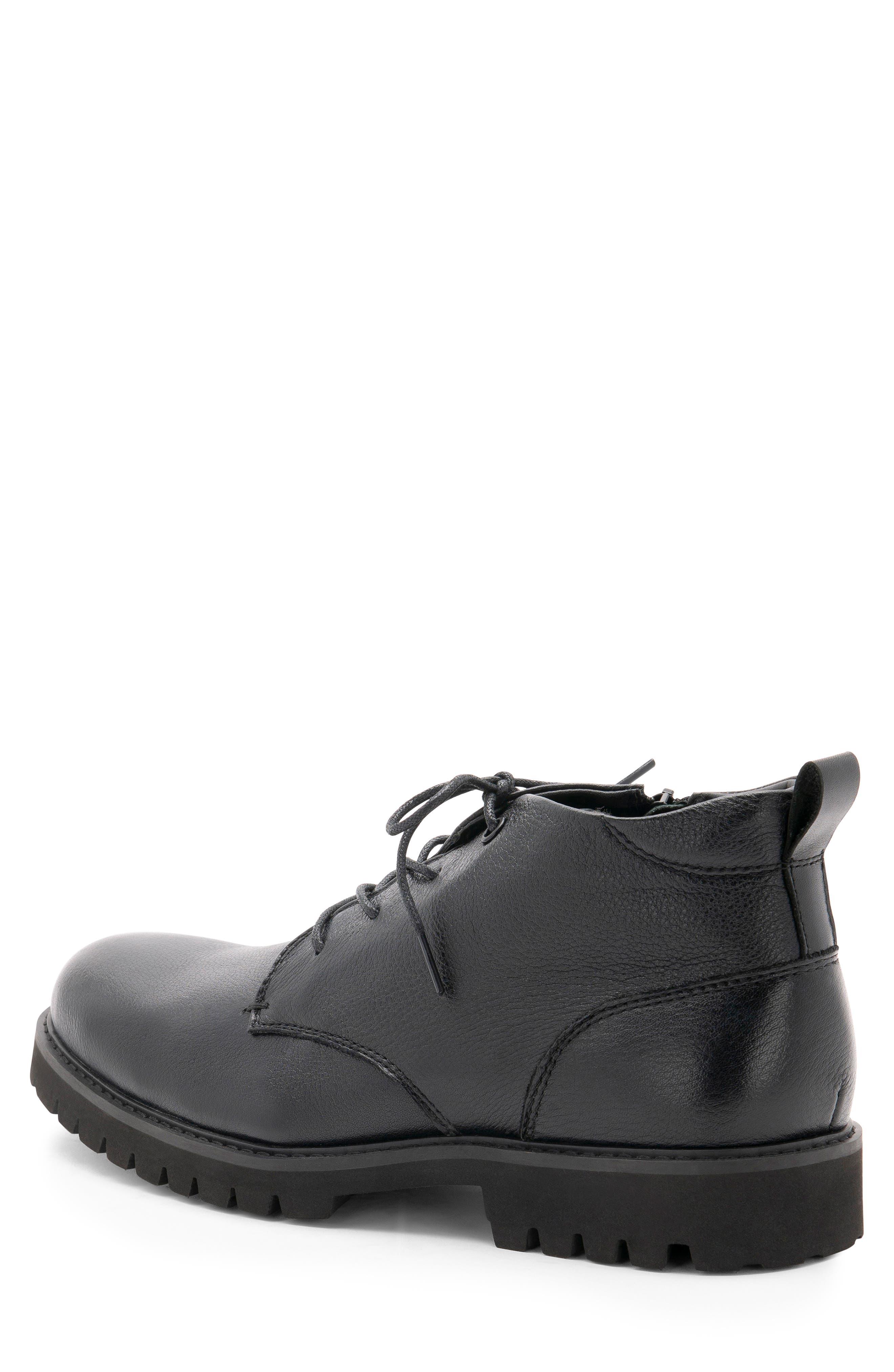 BLONDO,                             Max Chukka Waterproof Boot,                             Alternate thumbnail 2, color,                             BLACK LEATHER